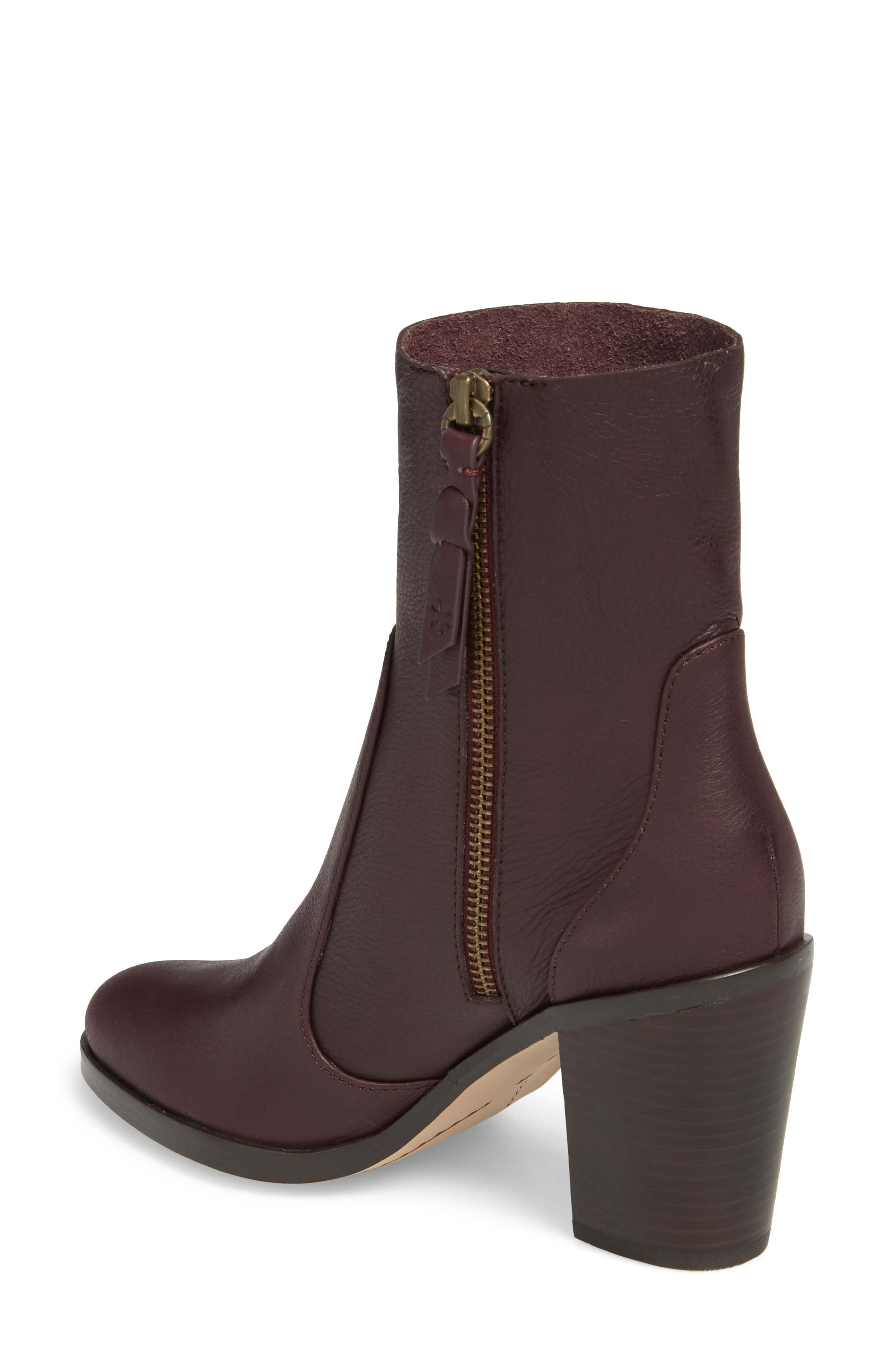 Roselyn Bootie,                             Alternate thumbnail 2, color,                             DEEP PLUM LEATHER