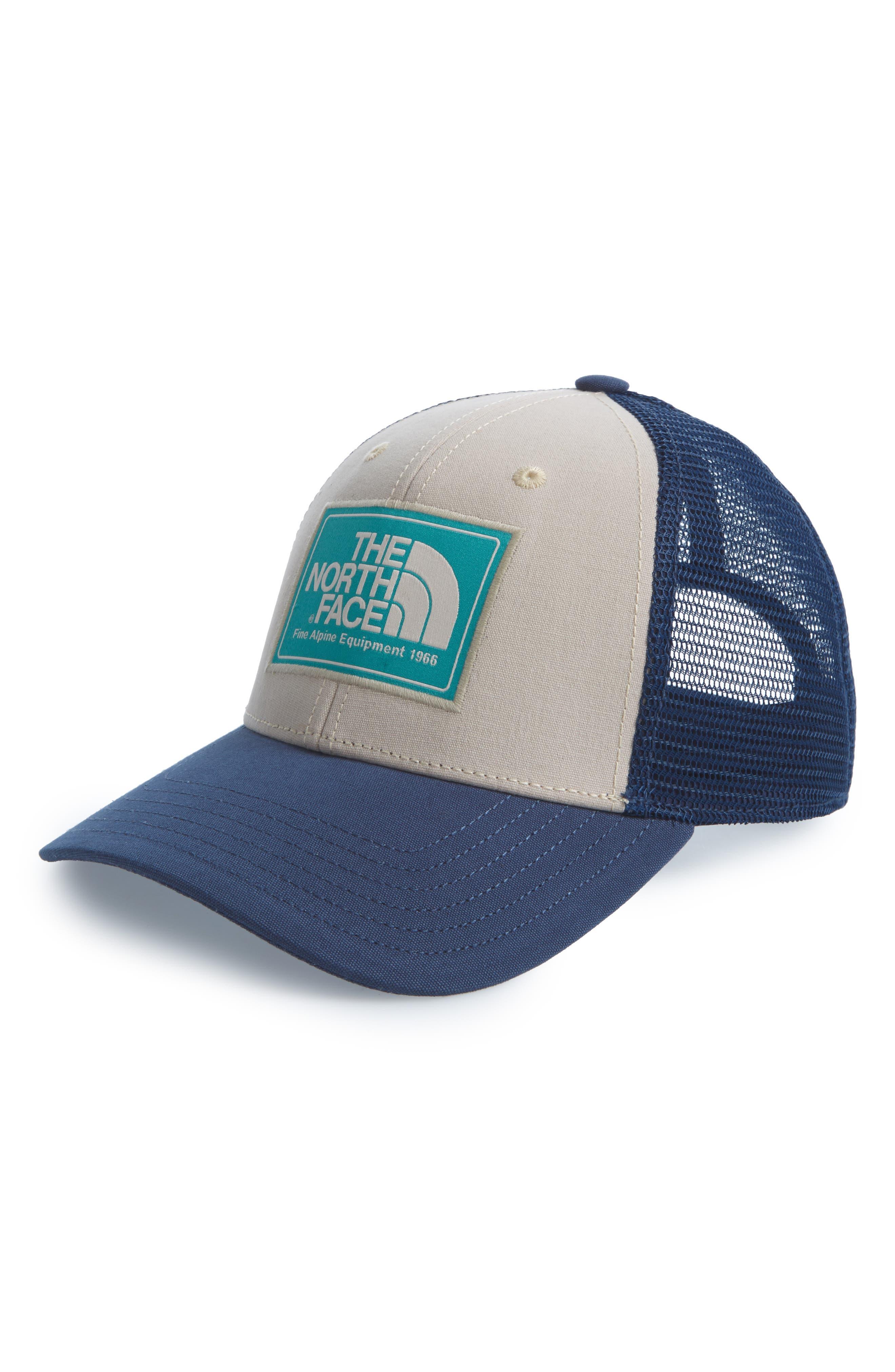 Mudder Trucker Hat,                             Main thumbnail 1, color,                             BEIGE/ BLUE/ GREEN
