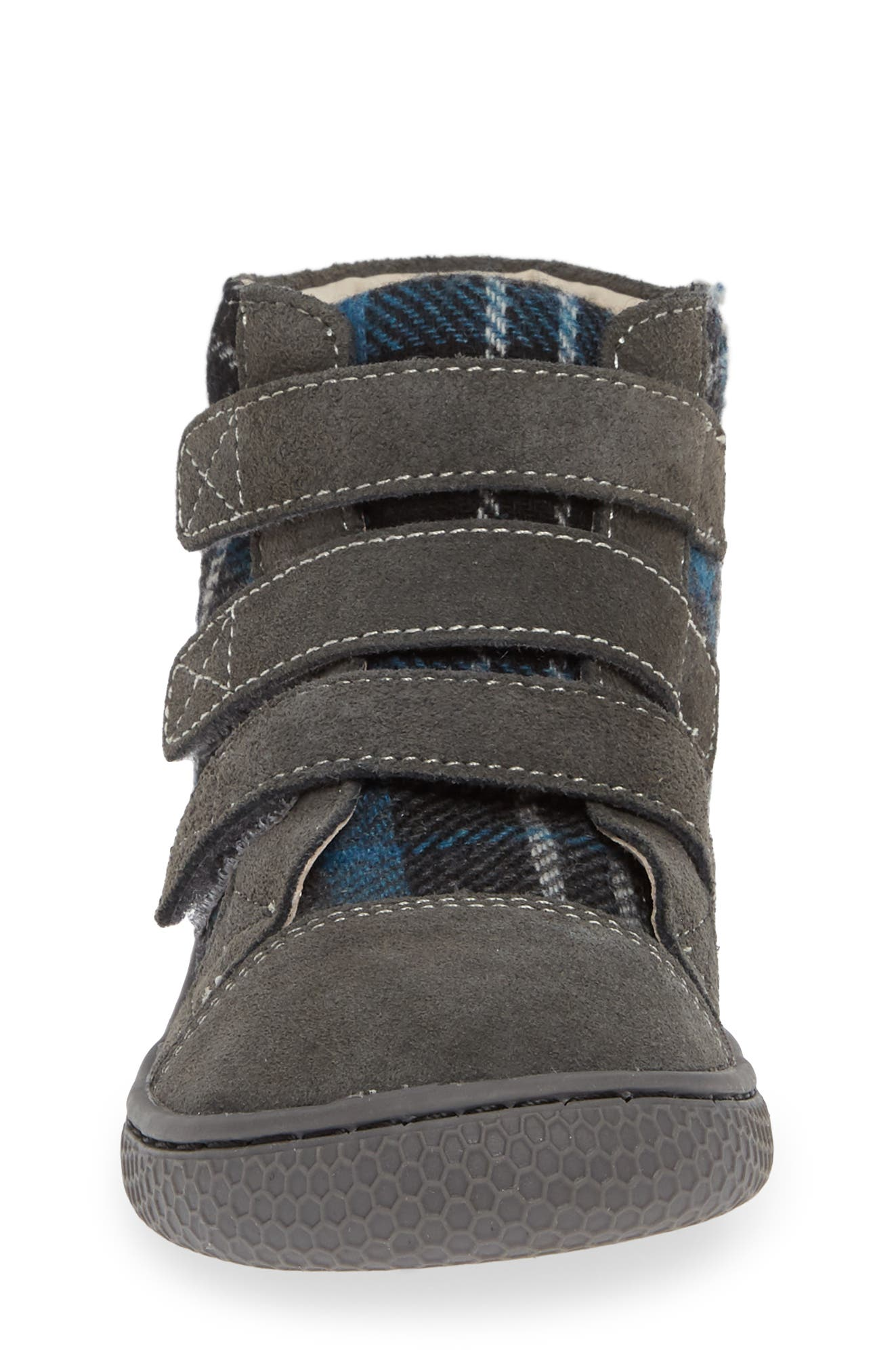 'Jamie' High Top Sneaker,                             Alternate thumbnail 4, color,                             GRAY PLAID