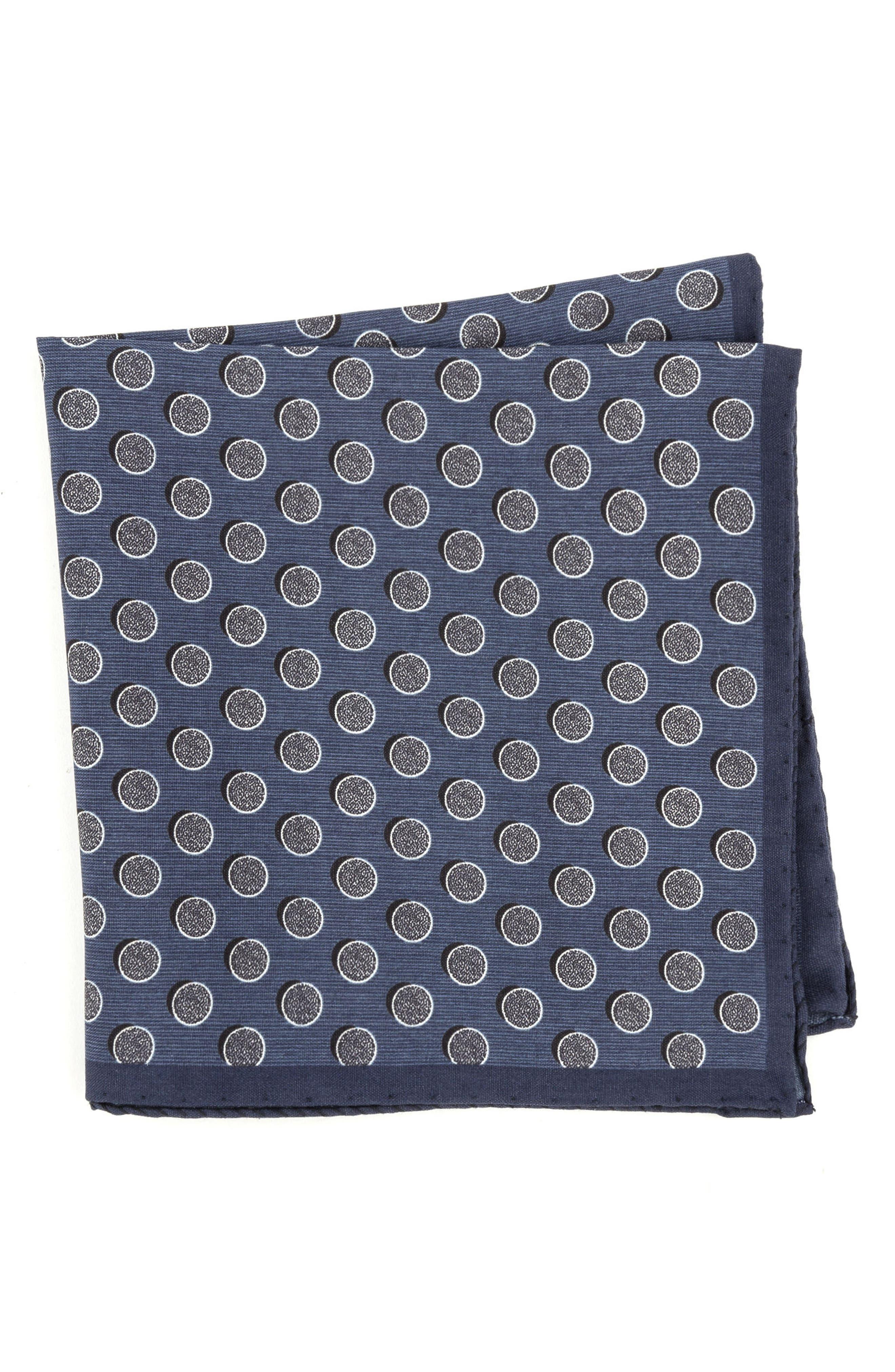 Dot Silk Pocket Square,                             Main thumbnail 1, color,                             411