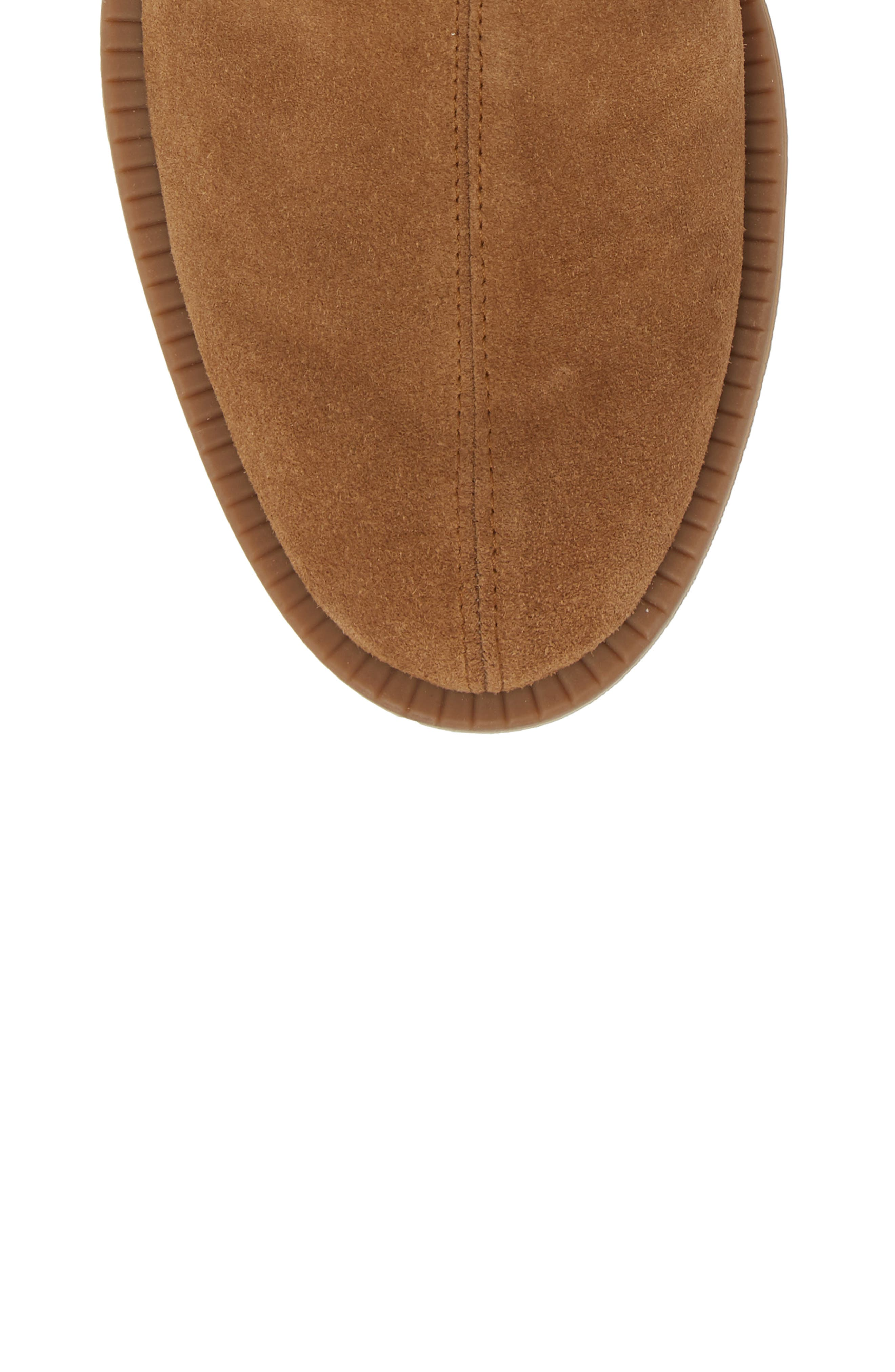 Kana Low Bootie,                             Alternate thumbnail 5, color,                             TOBACCO STRETCH  SUEDE