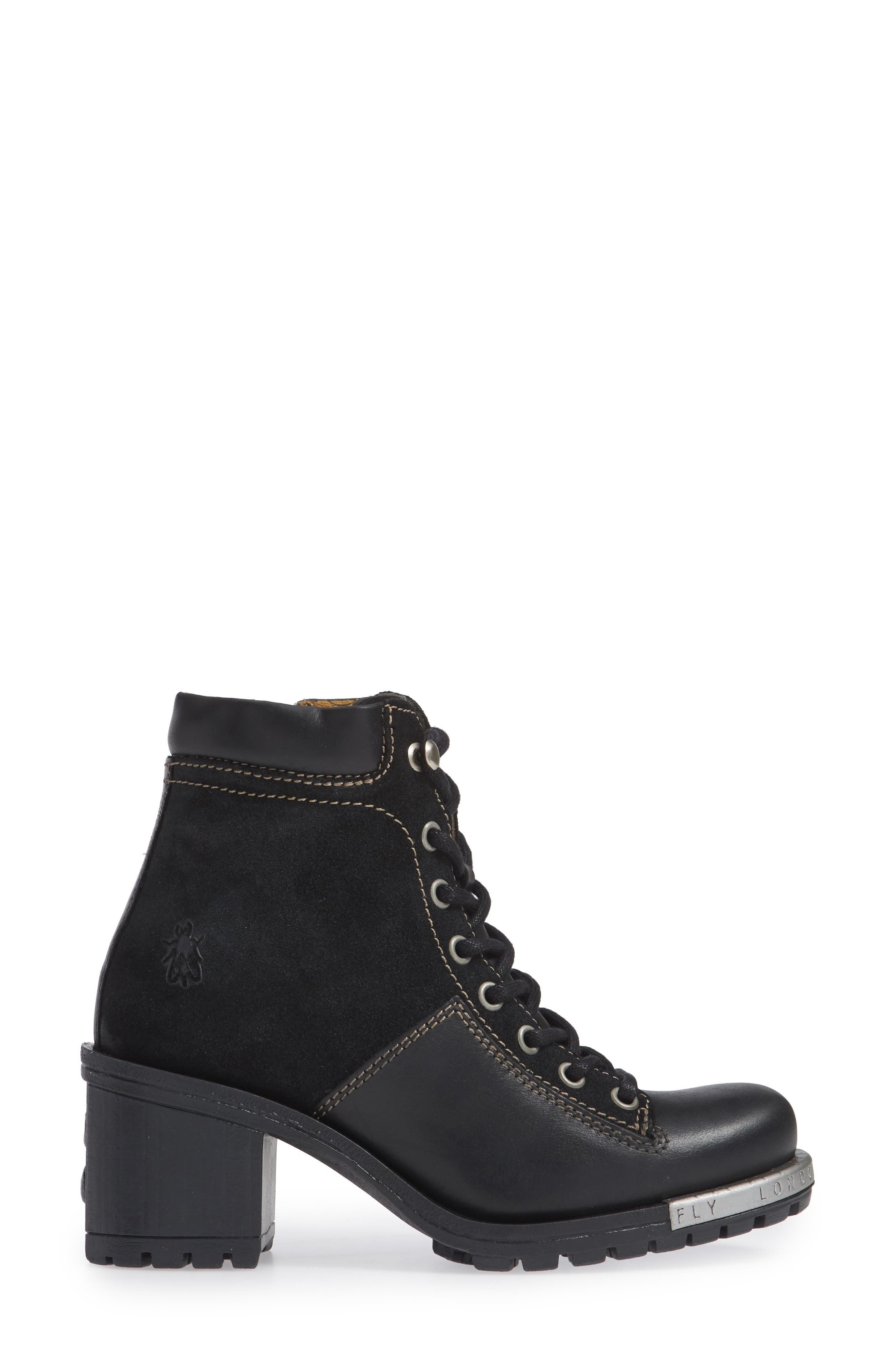 'Leal' Boot,                             Alternate thumbnail 3, color,                             BLACK/ ANTHRACITE