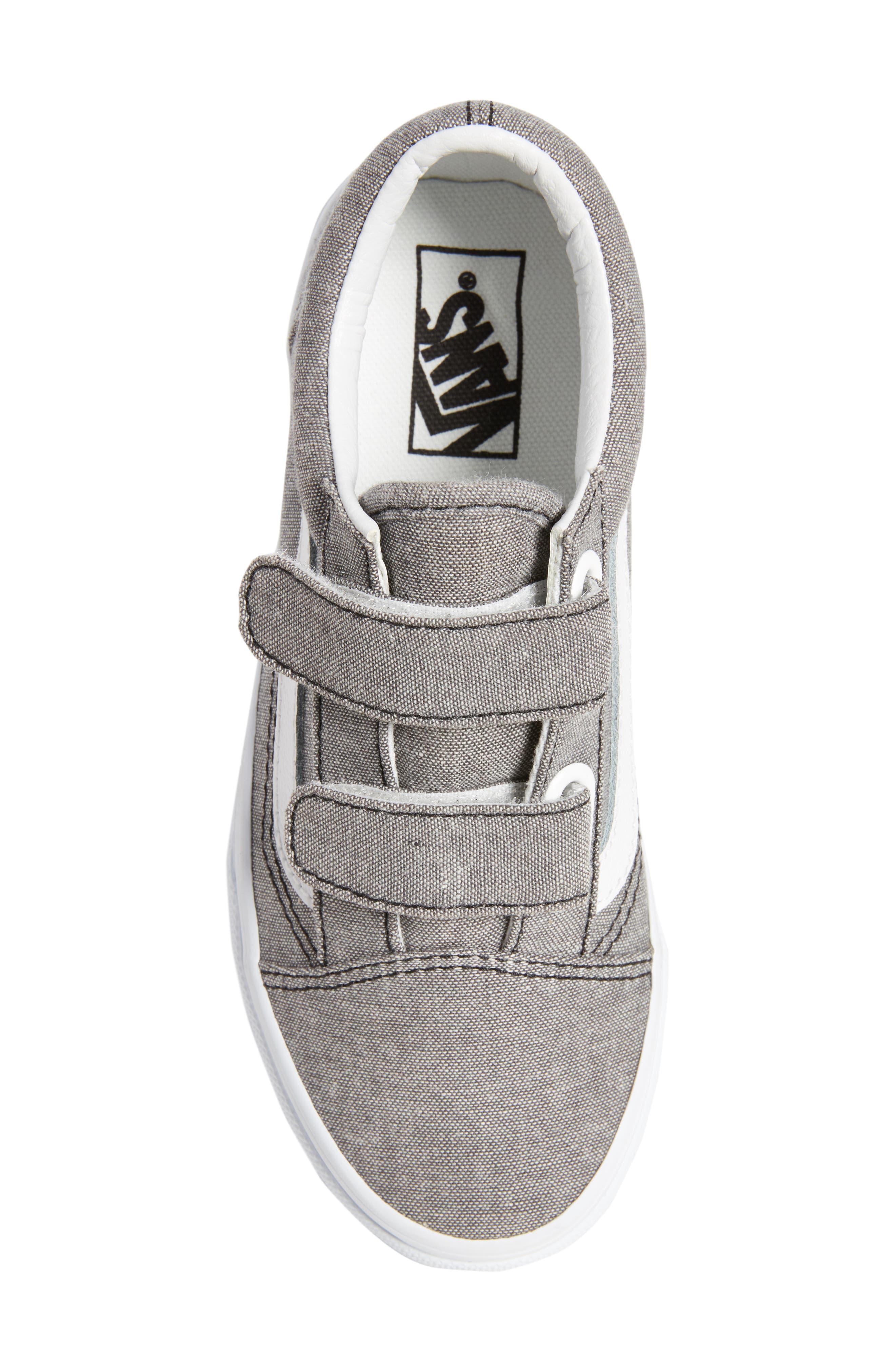 'Old Skool' Sneaker,                             Alternate thumbnail 5, color,                             OXFORD GRAY TRUE WHITE