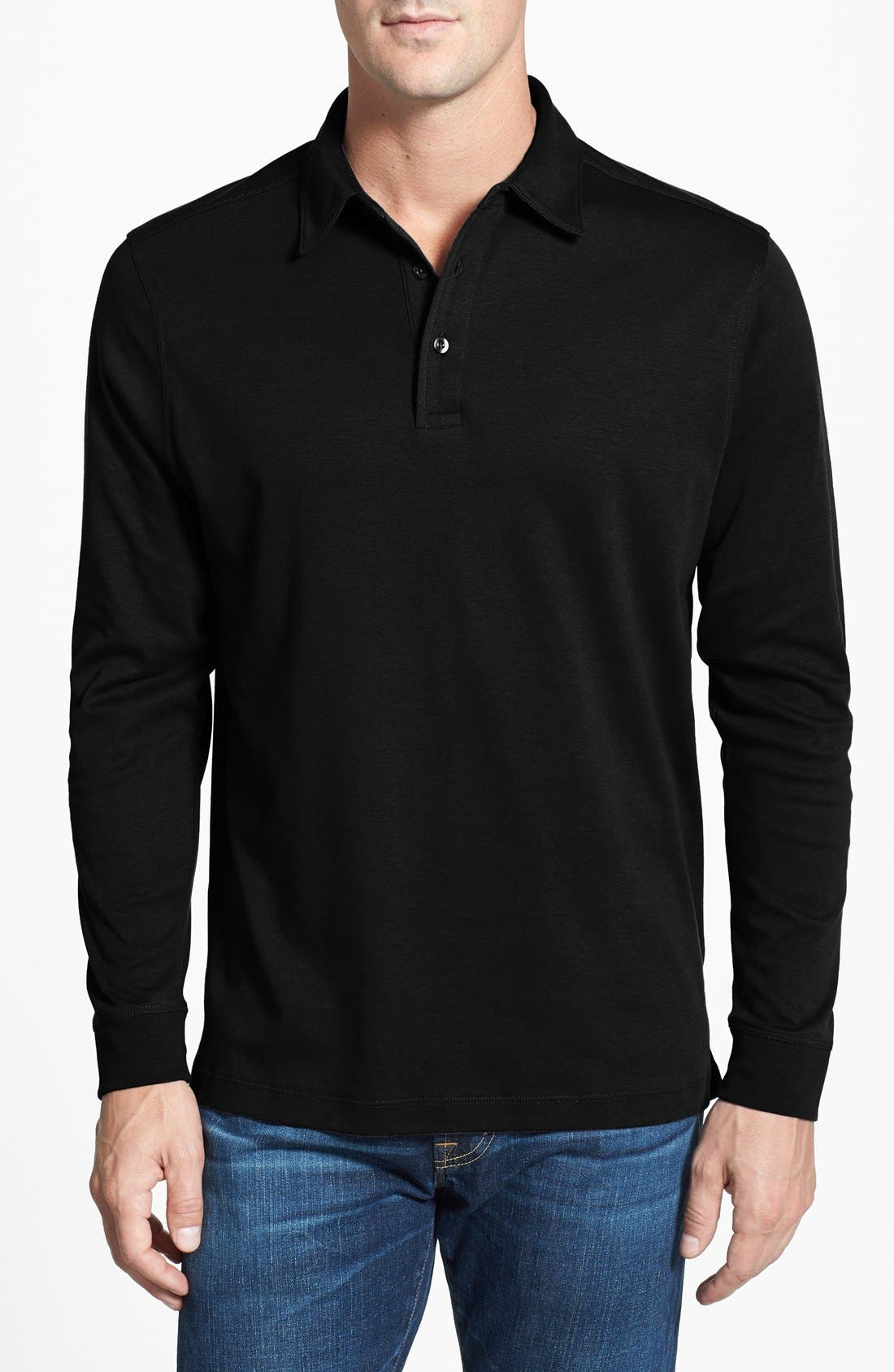 Belfair Pima Cotton Polo,                         Main,                         color, 001