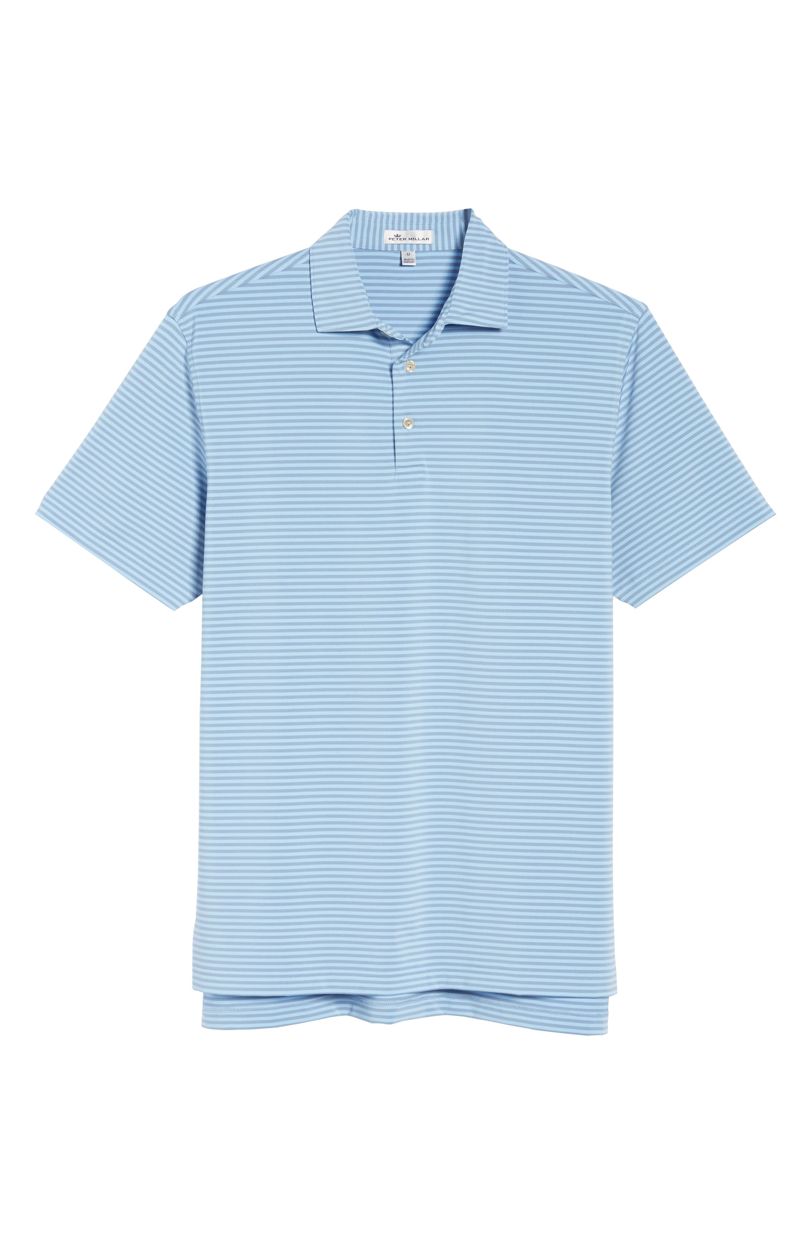 Competition Stripe Stretch Jersey Polo,                             Alternate thumbnail 6, color,                             COTTAGE BLUE