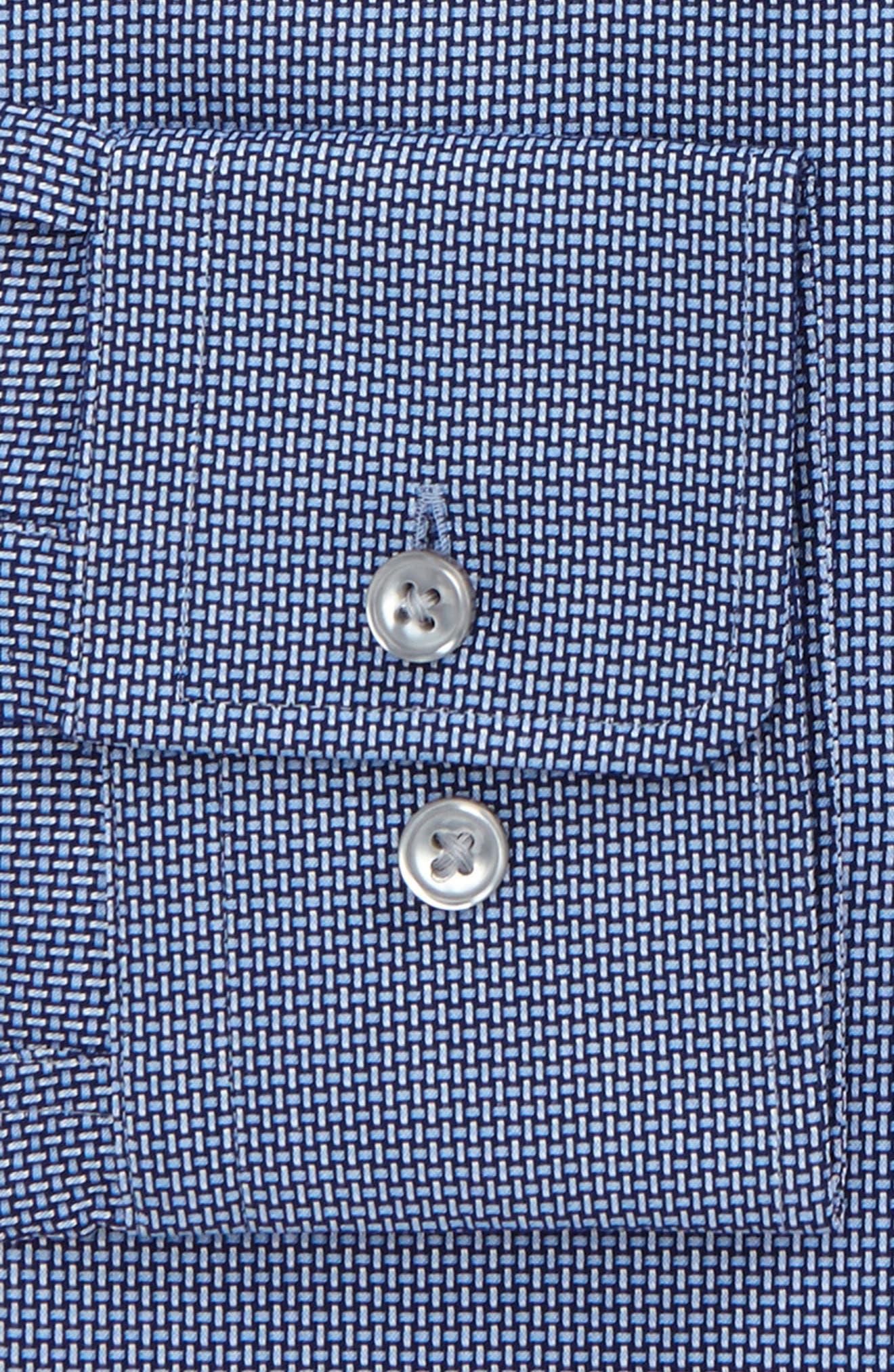 Marley Sharp Fit Solid Dress Shirt,                             Alternate thumbnail 4, color,                             410