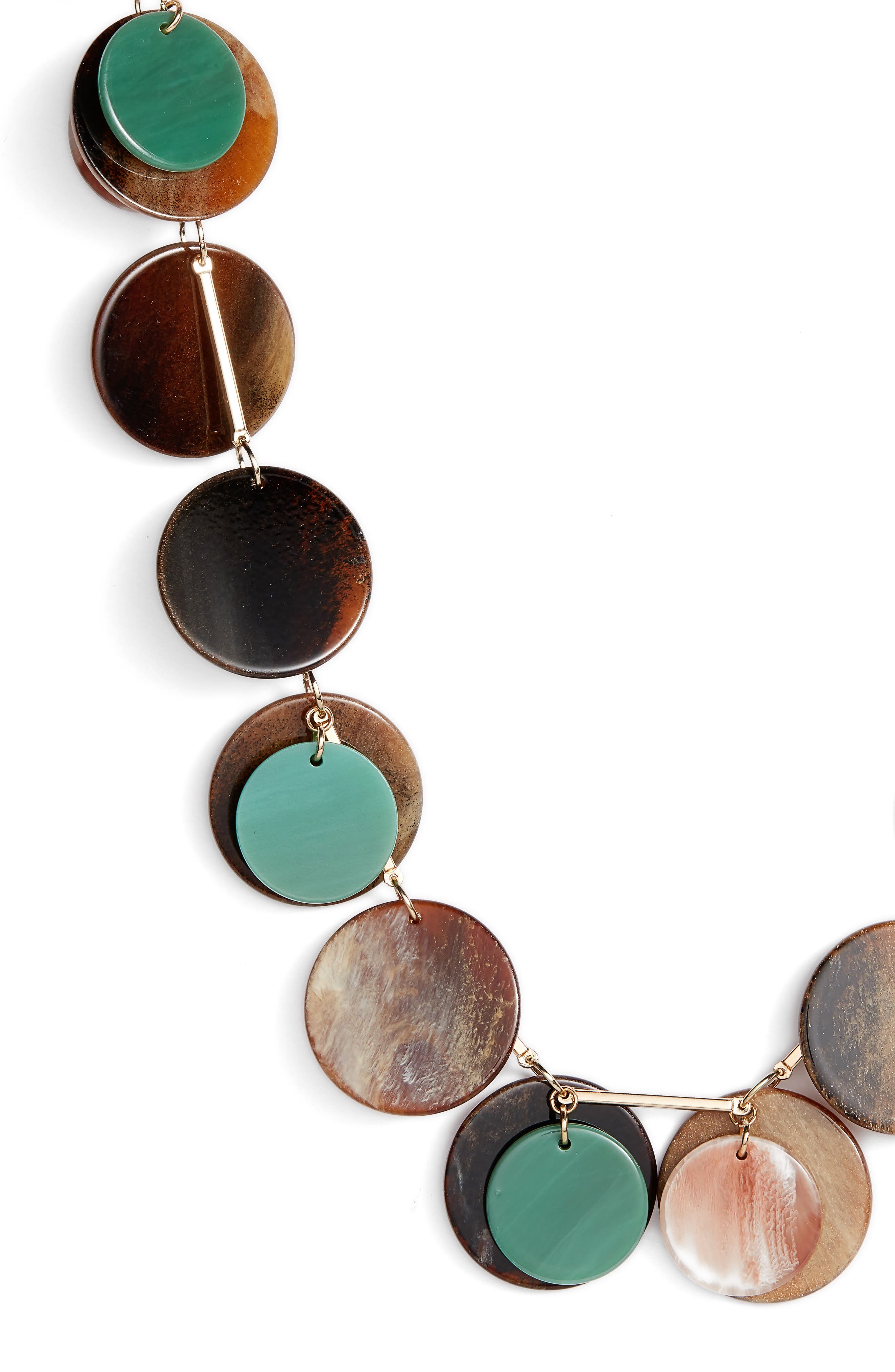 Layered Disc Necklace,                             Alternate thumbnail 2, color,