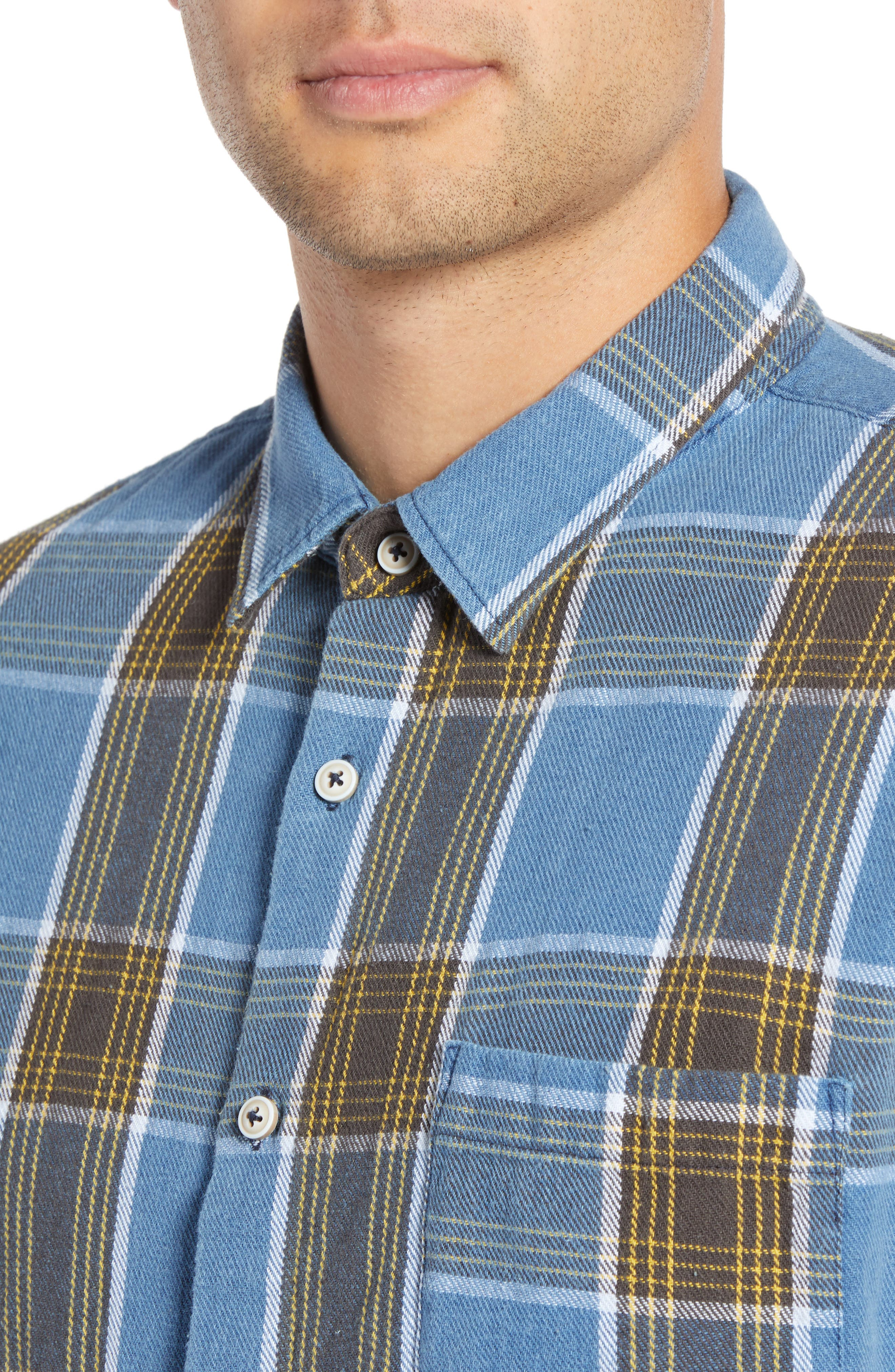 Plaid Flannel Shirt,                             Alternate thumbnail 2, color,                             450