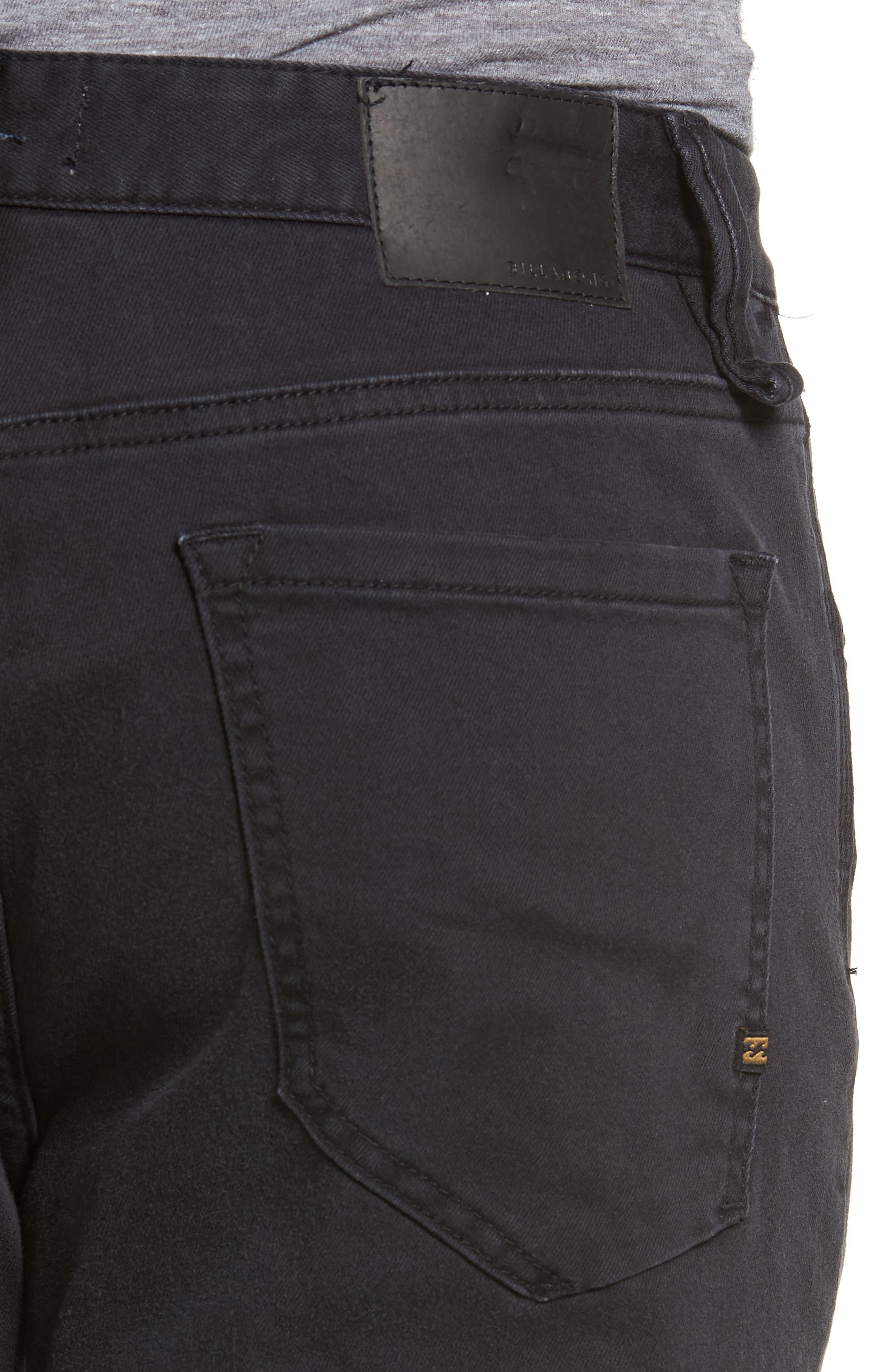 Outside Slim Straight Leg Jeans,                             Alternate thumbnail 4, color,                             011