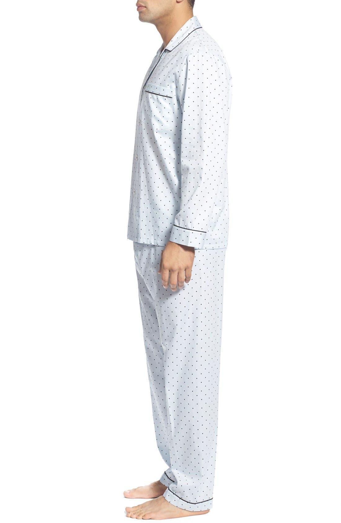 'Twilight' Cotton Pajamas,                             Alternate thumbnail 3, color,