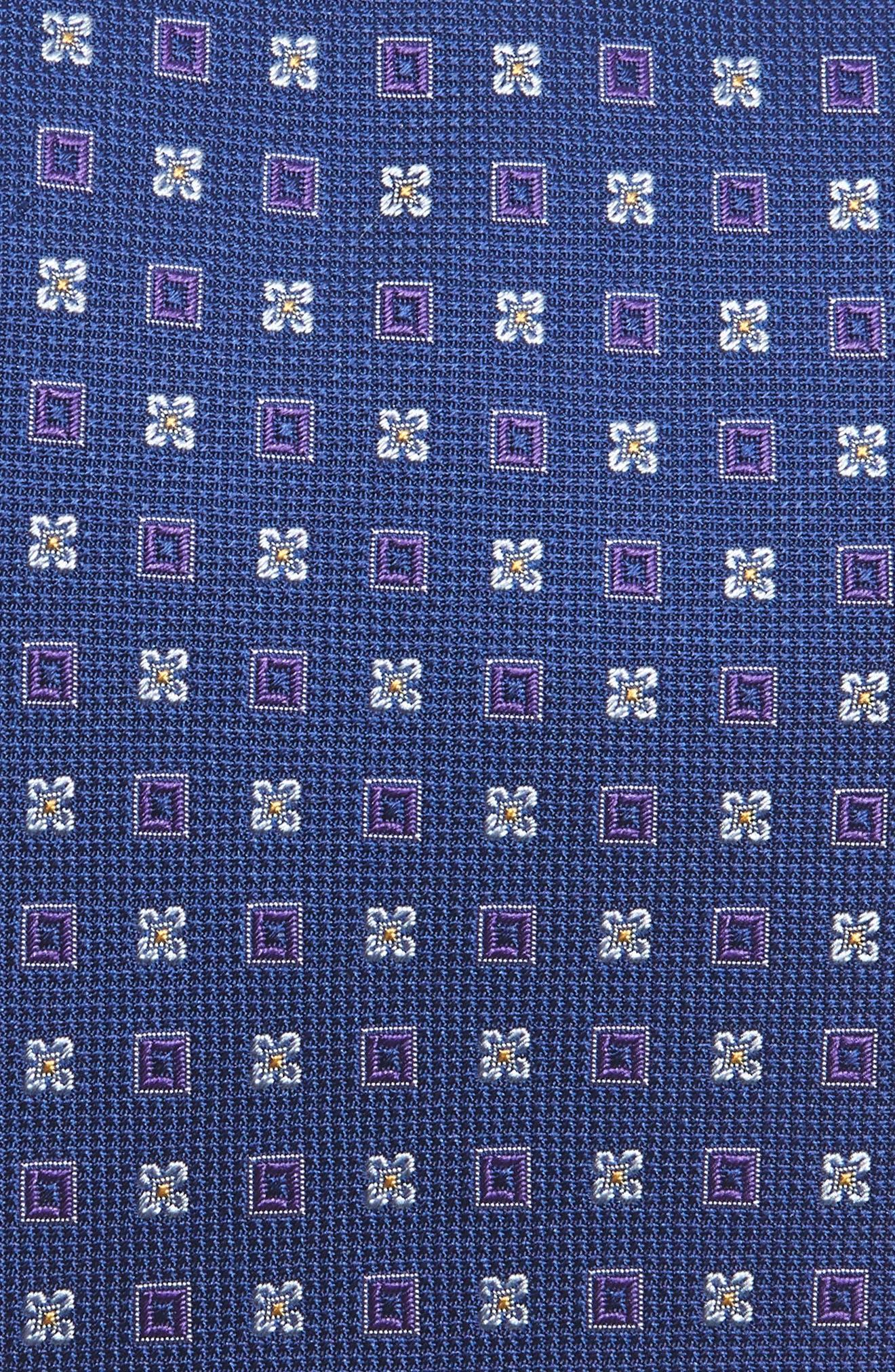 Geometric Silk Tie,                             Alternate thumbnail 2, color,                             ROYAL