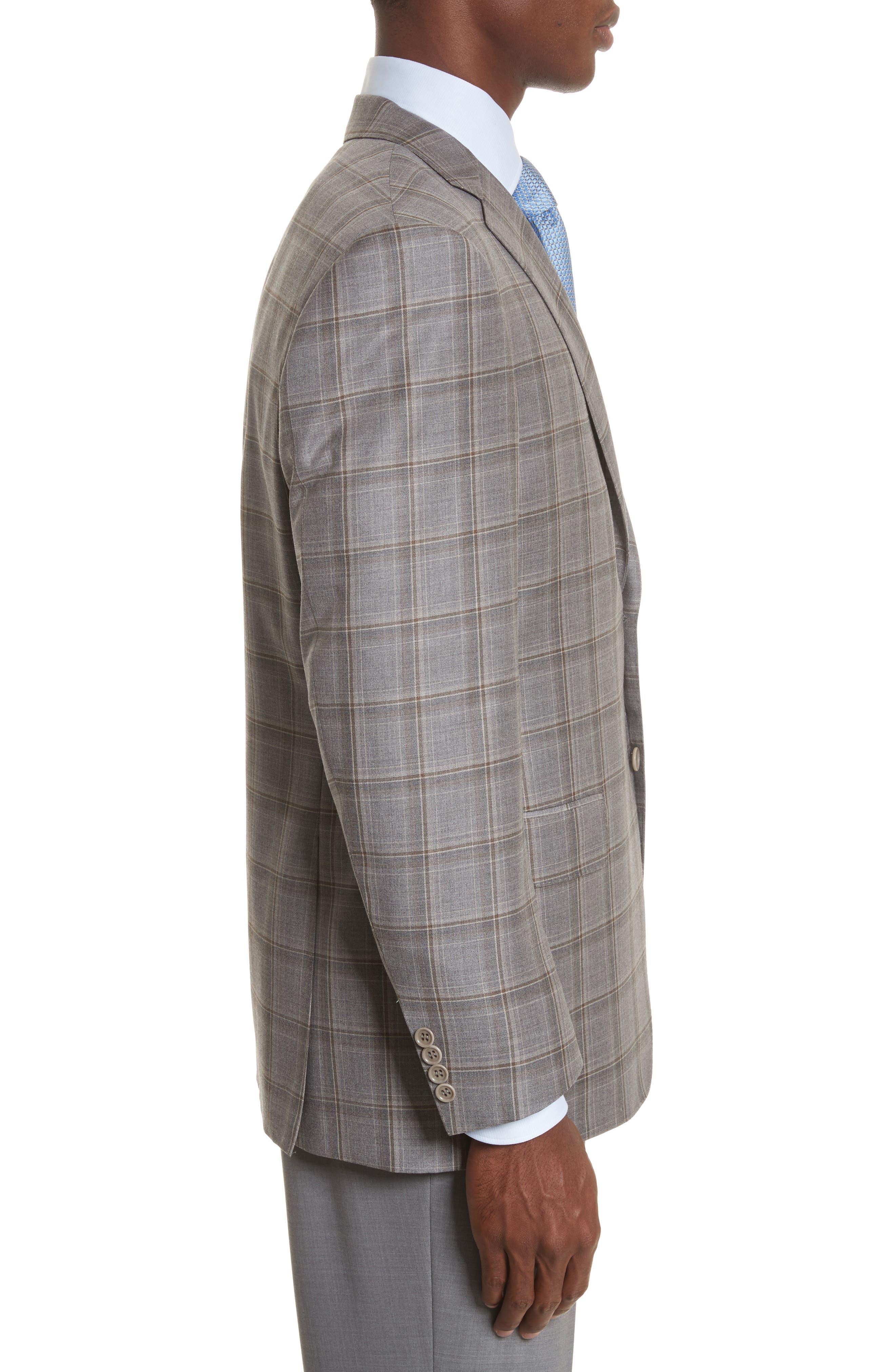 Classic Fit Plaid Wool Sport Coat,                             Alternate thumbnail 3, color,                             250