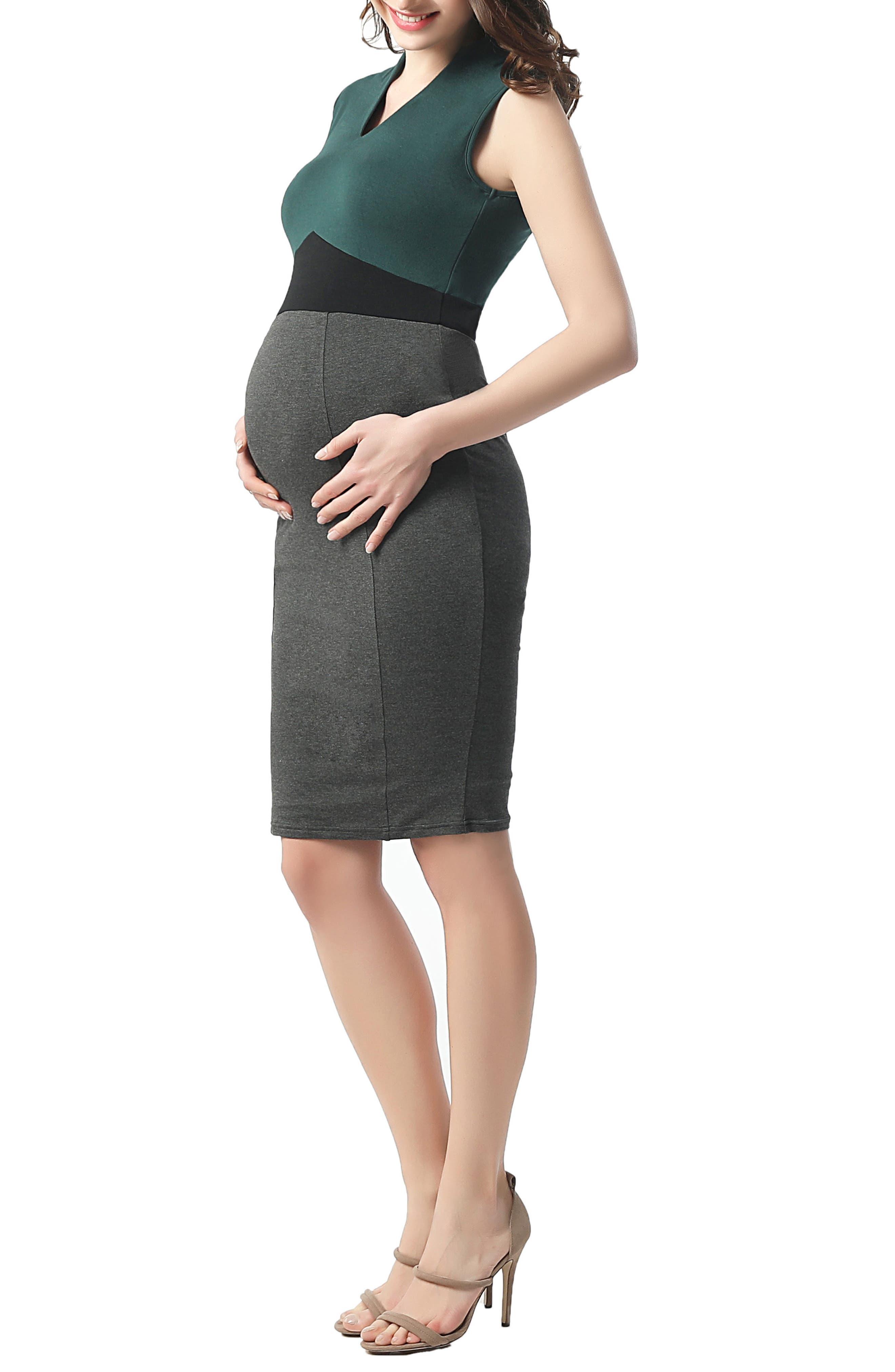 Jessie Maternity Body-Con Dress,                             Alternate thumbnail 2, color,                             MULTICOLORED