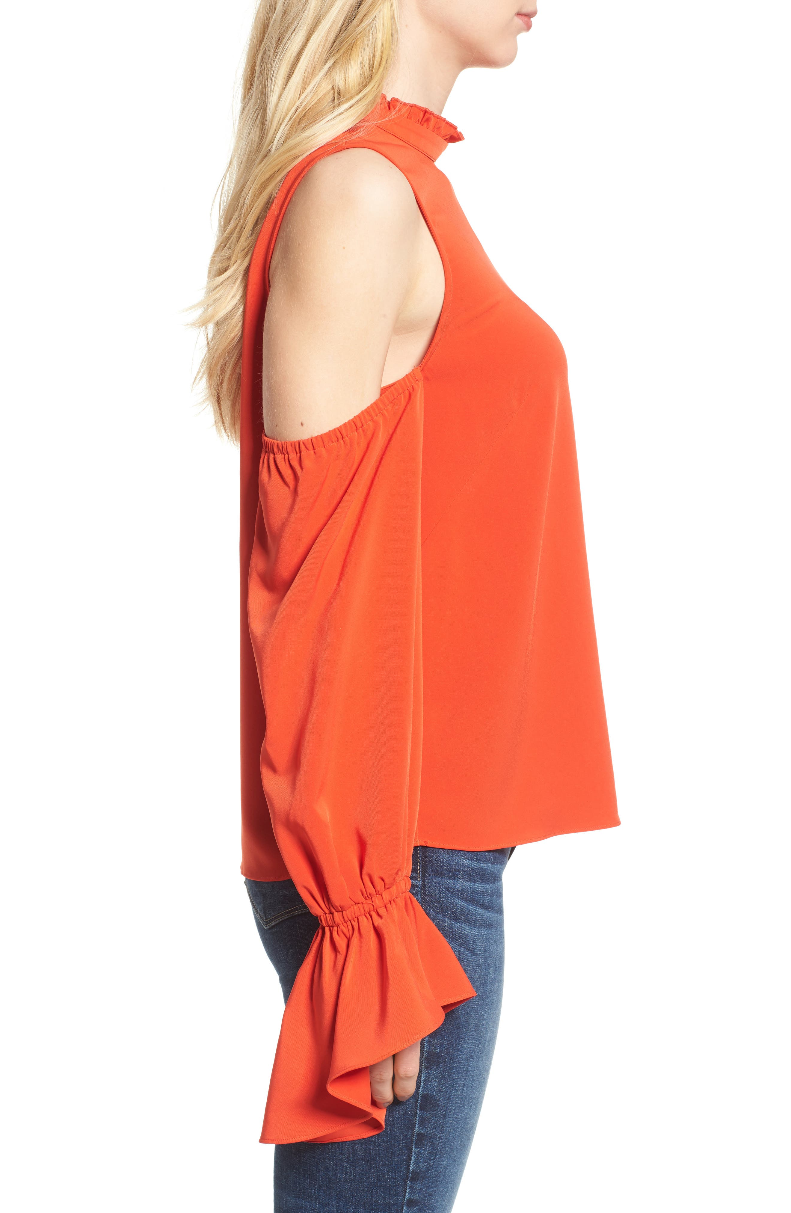 Cold Shoulder Blouse,                             Alternate thumbnail 3, color,                             603