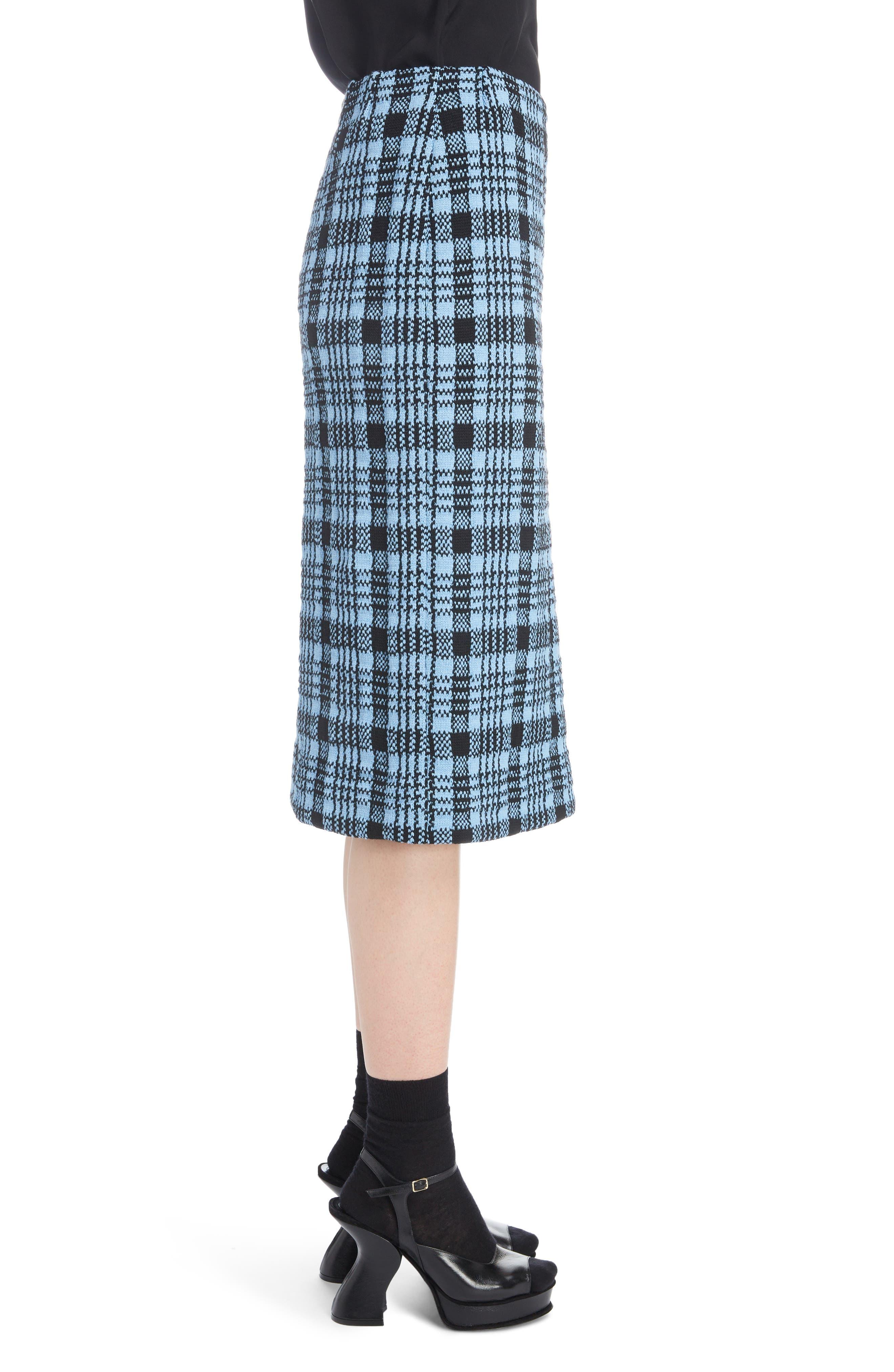 Long Plaid Pencil Skirt,                             Alternate thumbnail 3, color,                             400