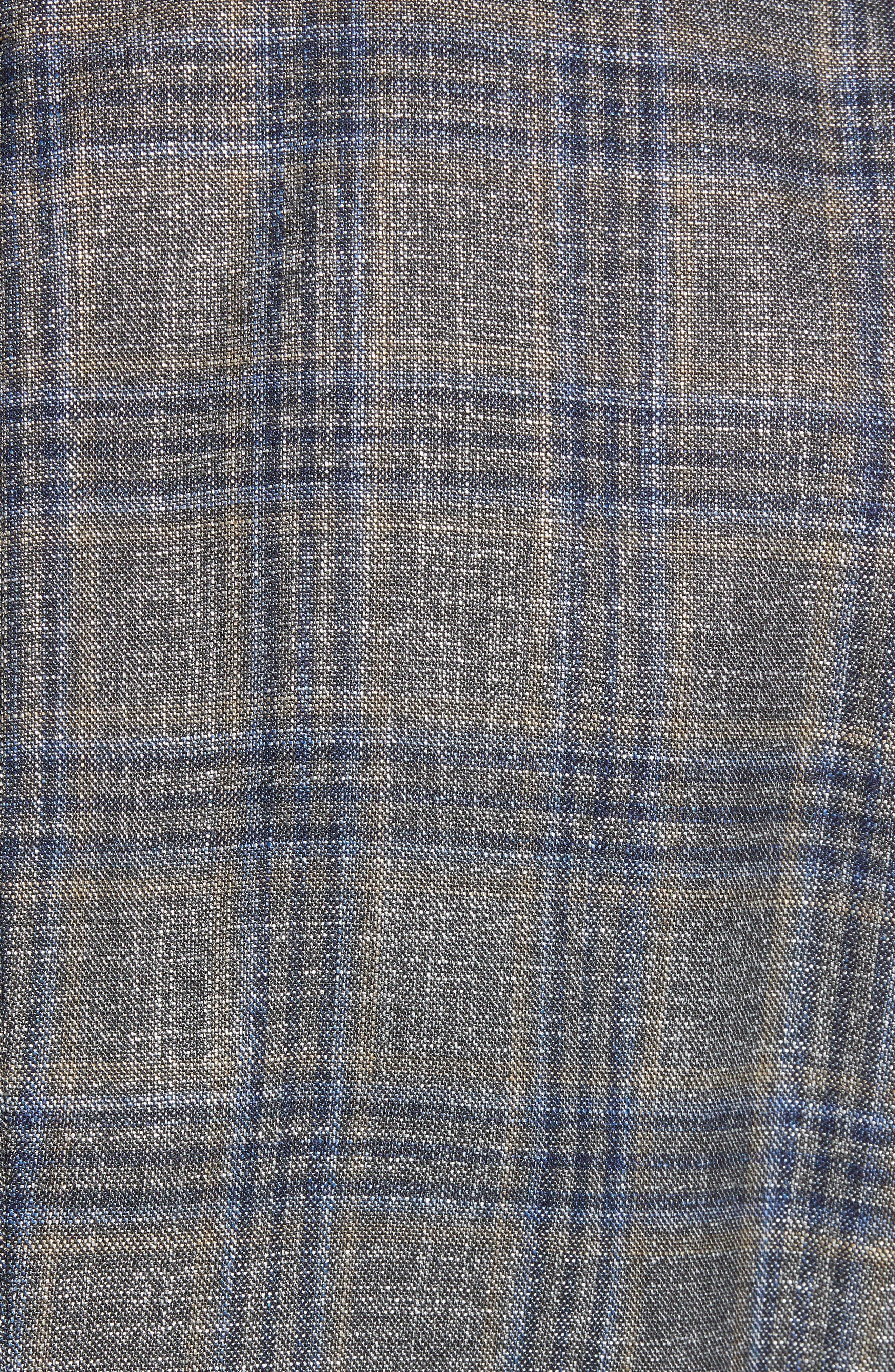 Heston Trim Fit Plaid Wool Blend Sport Coat,                             Alternate thumbnail 6, color,                             TAN