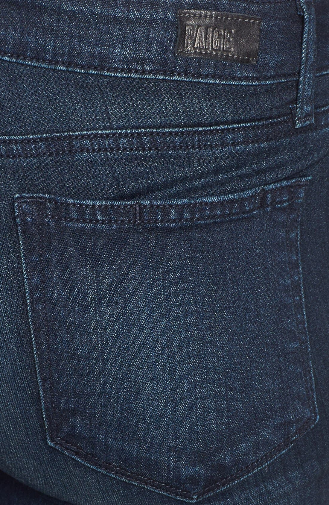 Transcend - Verdugo Crop Skinny Jeans,                             Alternate thumbnail 3, color,                             MIDLAKE