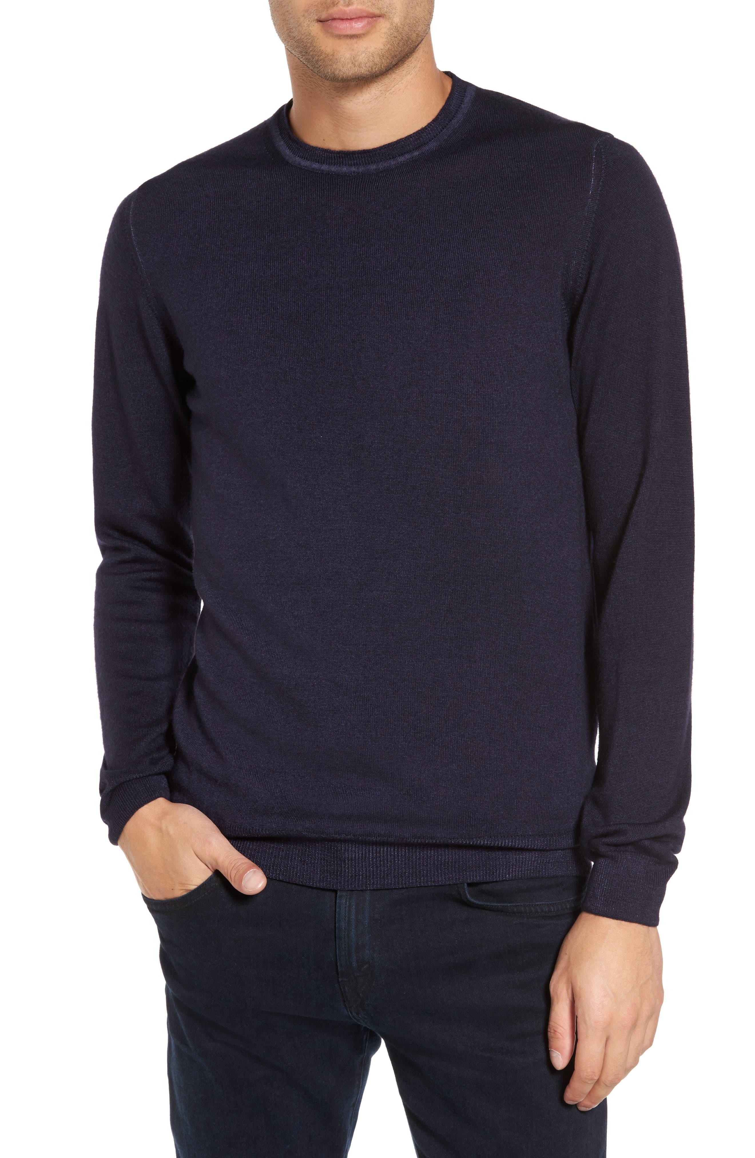 V-Neck Merino Wool Sweater,                             Main thumbnail 3, color,