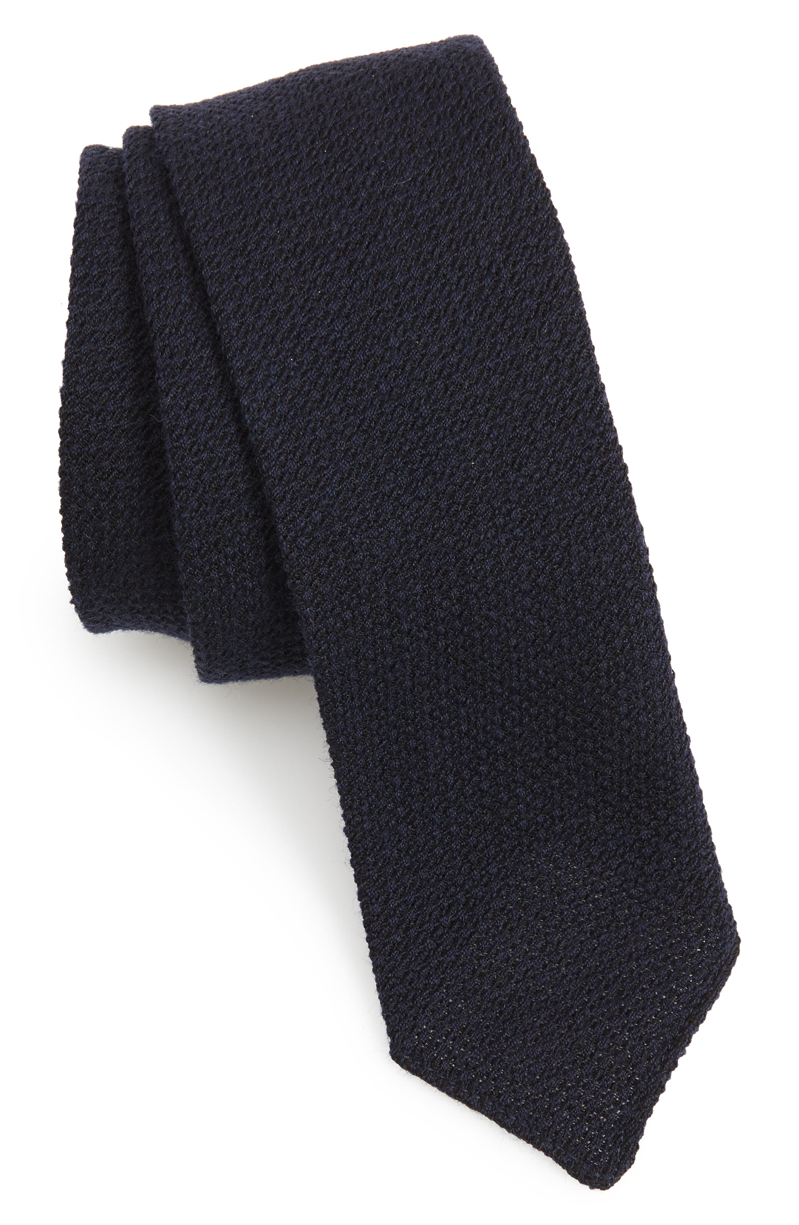 Solid Wool & Silk Tie,                             Main thumbnail 1, color,                             OPEN BLUE
