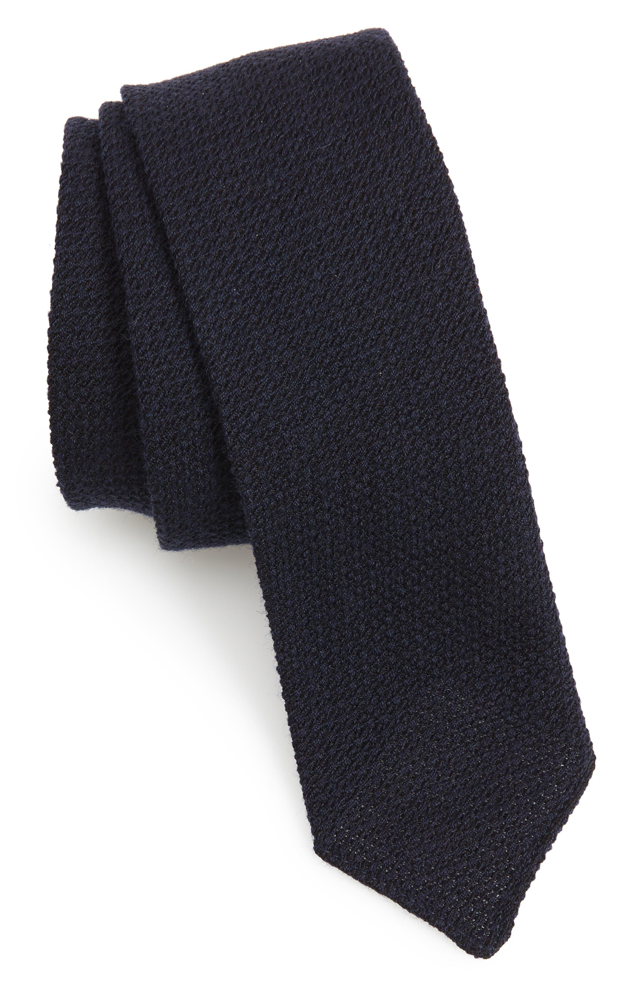 Solid Wool & Silk Tie,                         Main,                         color, OPEN BLUE