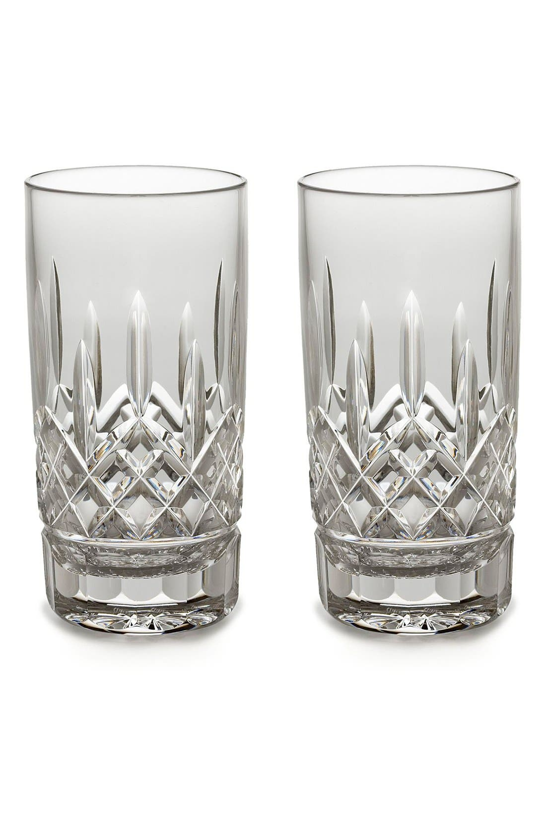 'Lismore' Lead Crystal Highball Glasses,                             Main thumbnail 1, color,