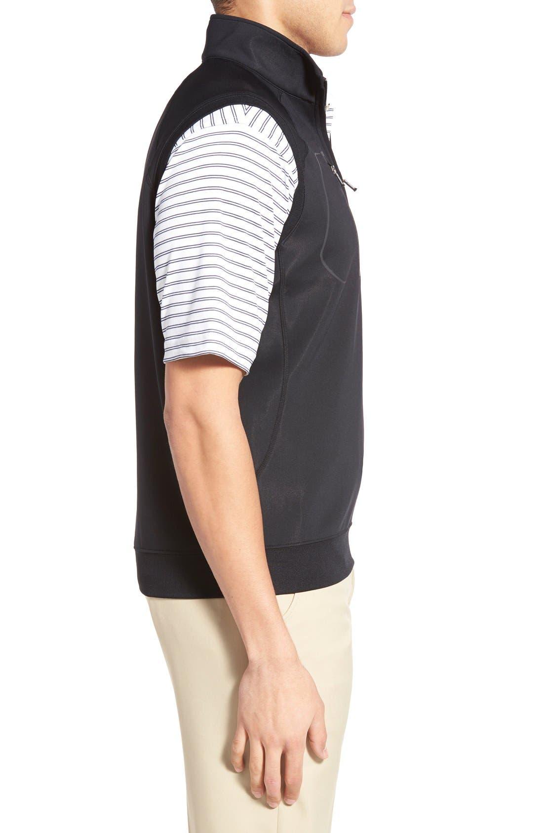 XH2O Crawford Stretch Quarter Zip Golf Vest,                             Alternate thumbnail 3, color,                             001