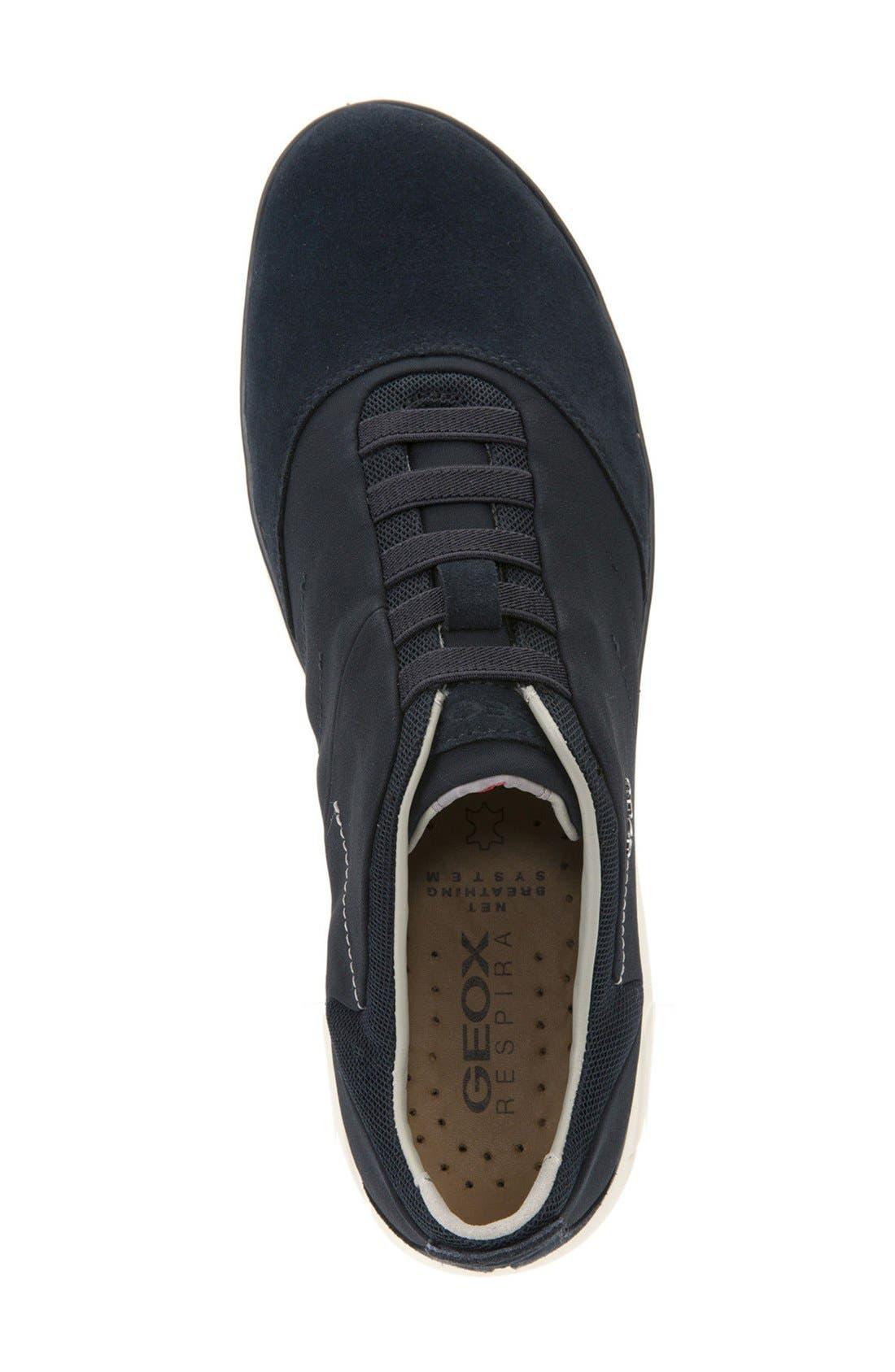 Nebula10 Slip-On Sneaker,                             Alternate thumbnail 3, color,                             NAVY SUEDE