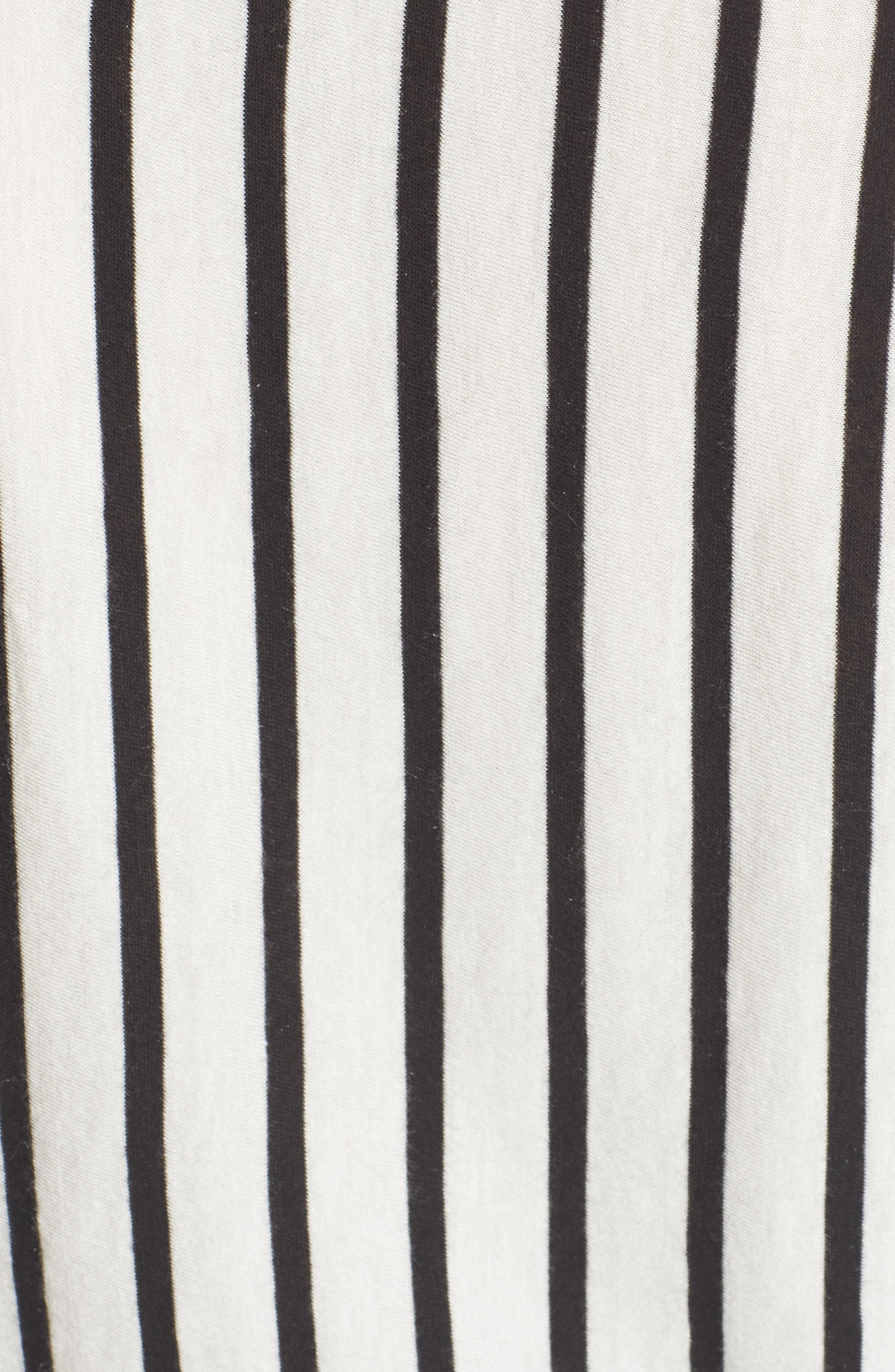 Stripe Knotted Tee,                             Alternate thumbnail 5, color,                             005