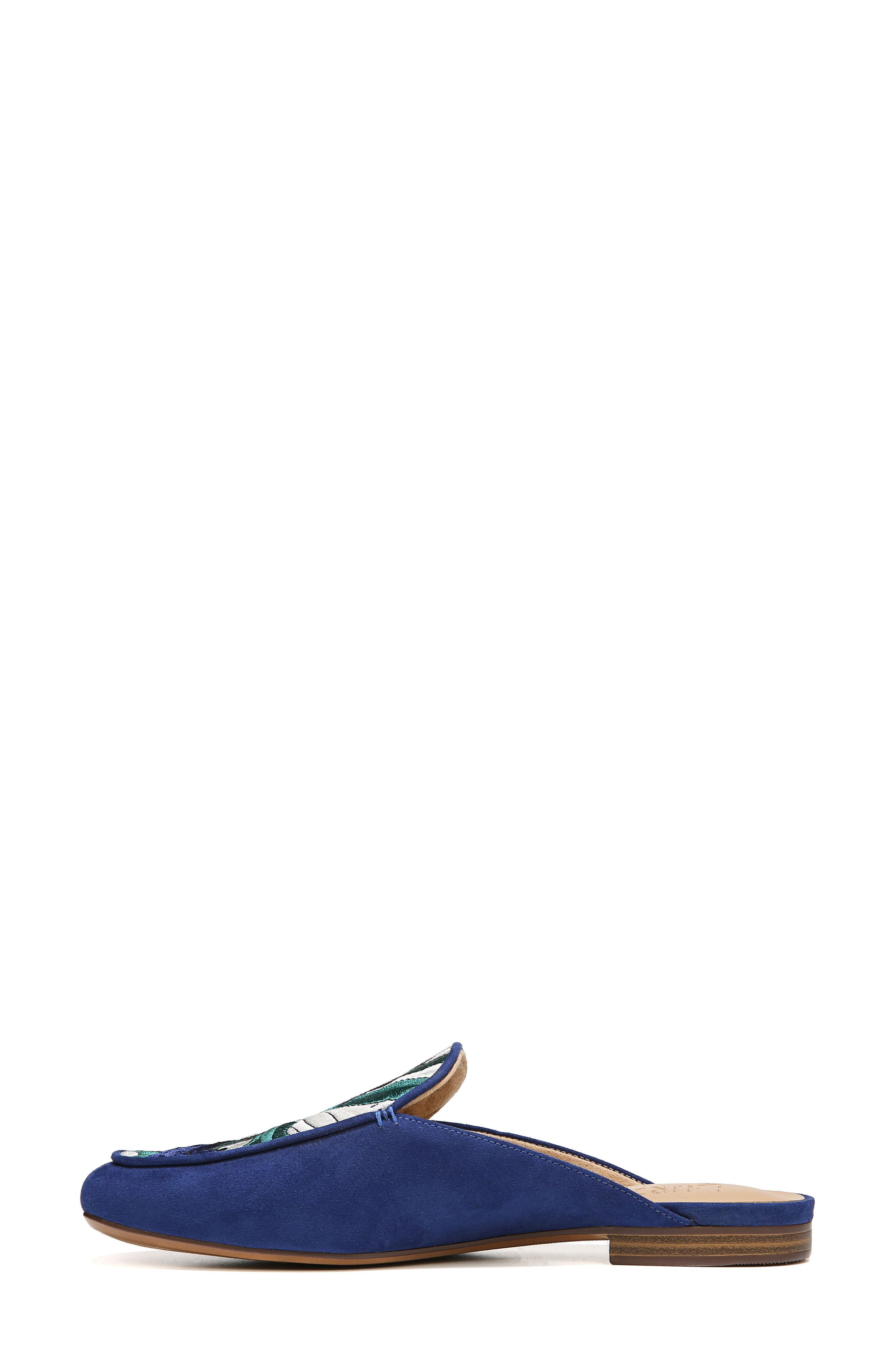 NATURALIZER,                             Eden II Embroidered Mule,                             Alternate thumbnail 3, color,                             SAPPHIRE FABRIC