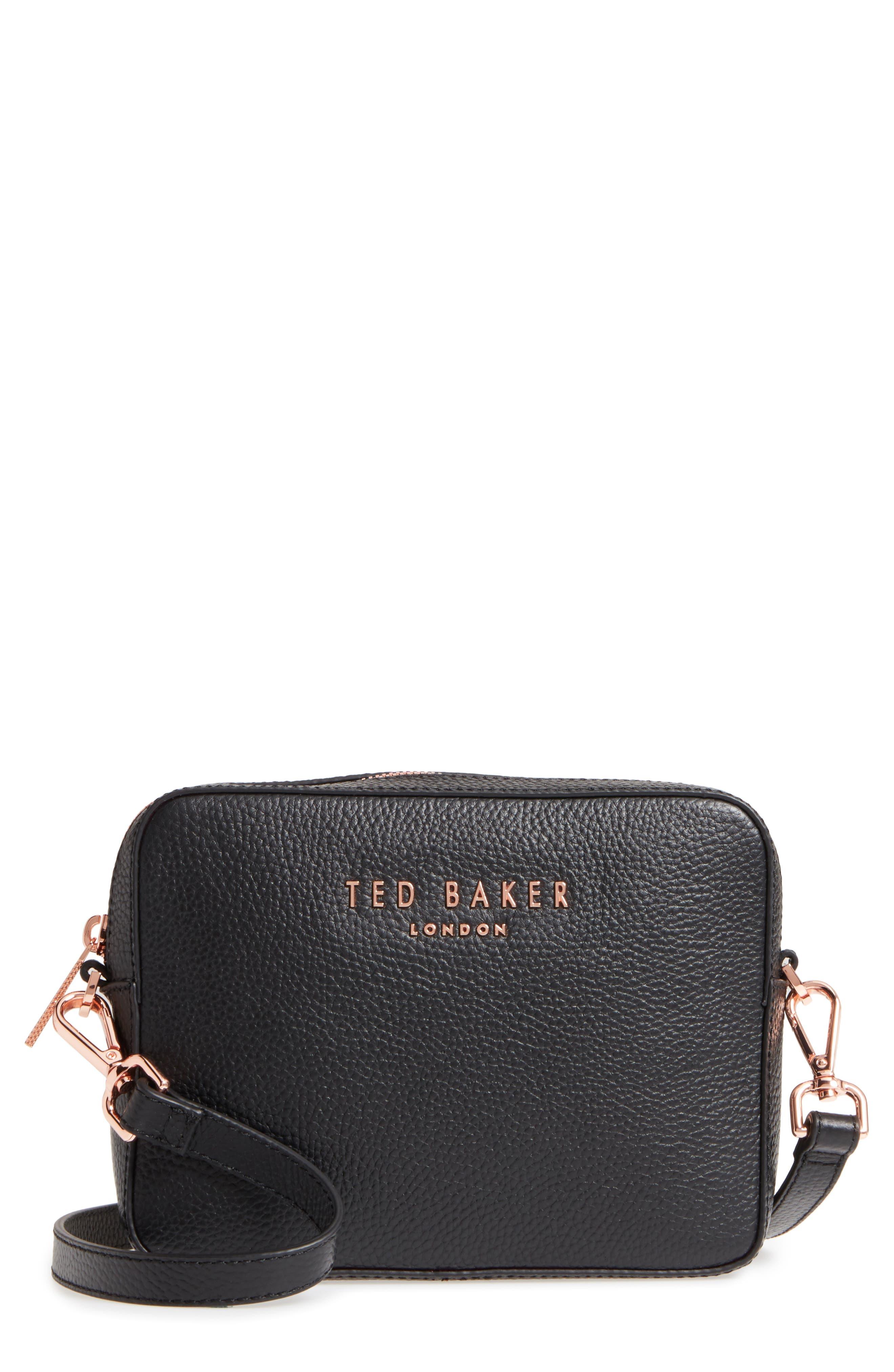 Susi Leather Crossbody Bag,                             Main thumbnail 1, color,                             001