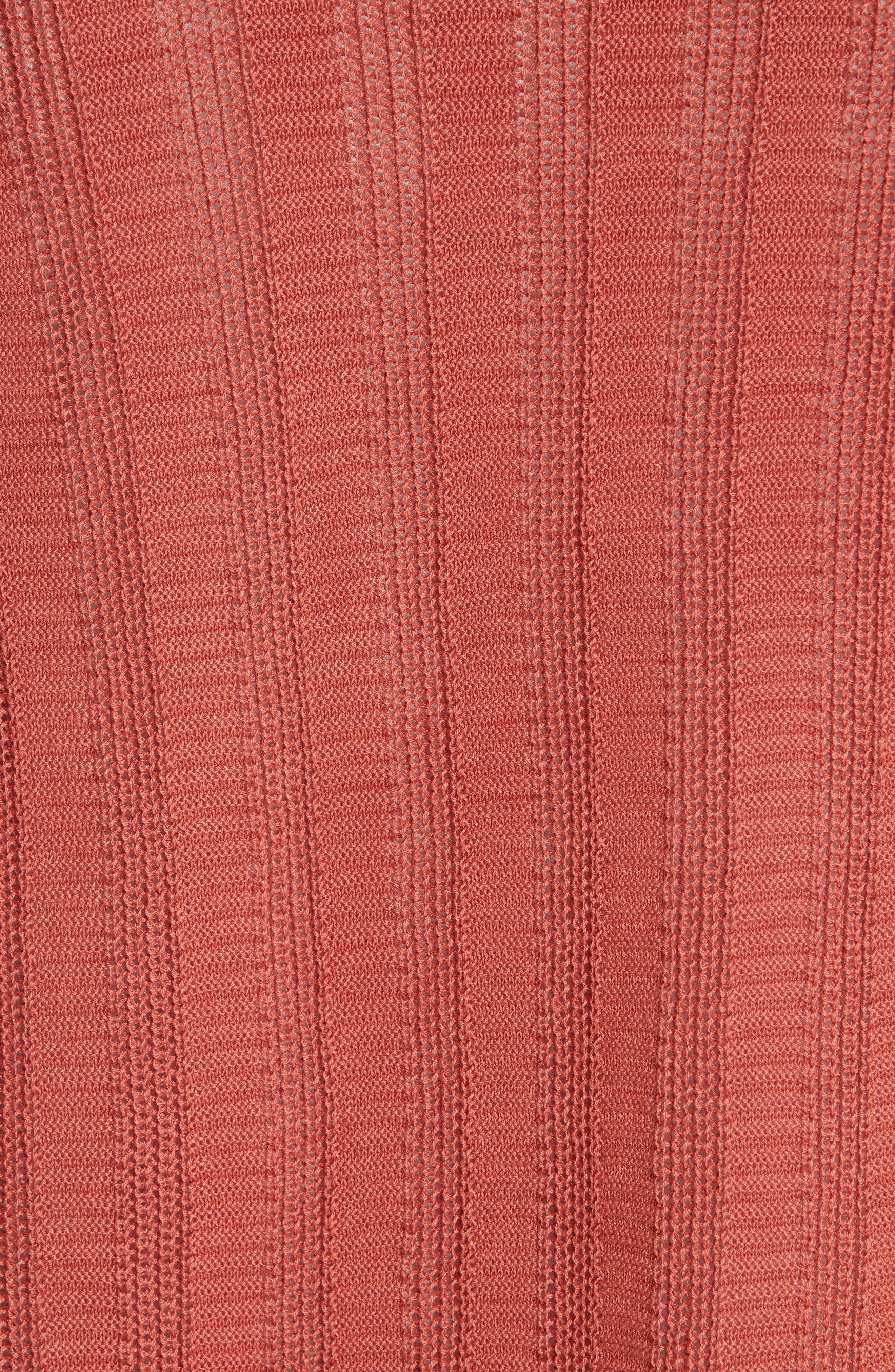 Bell Cuff Silk Blend Cardigan,                             Alternate thumbnail 5, color,                             ORANGE PEKOE