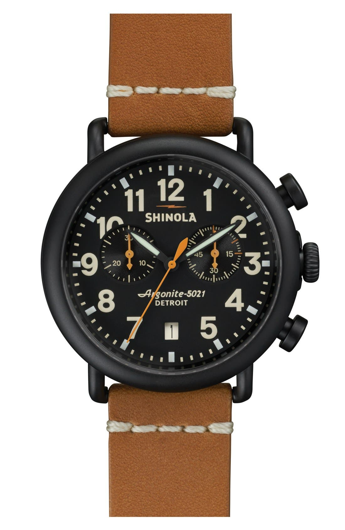 'The Runwell Chrono' Leather Strap Watch, 41mm,                             Main thumbnail 5, color,