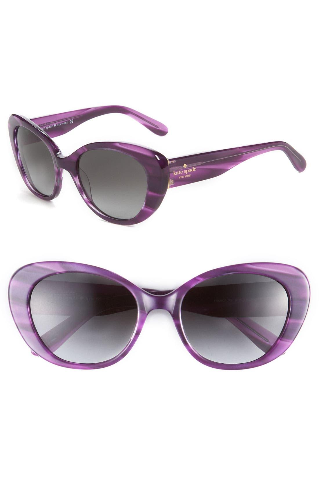 'franca 2' retro sunglasses,                             Main thumbnail 5, color,