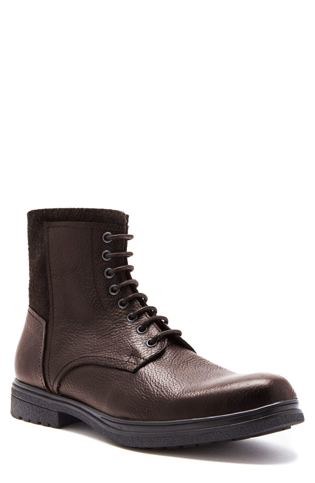 'Backoff' Waterproof Plain Toe Boot,                             Main thumbnail 1, color,                             200