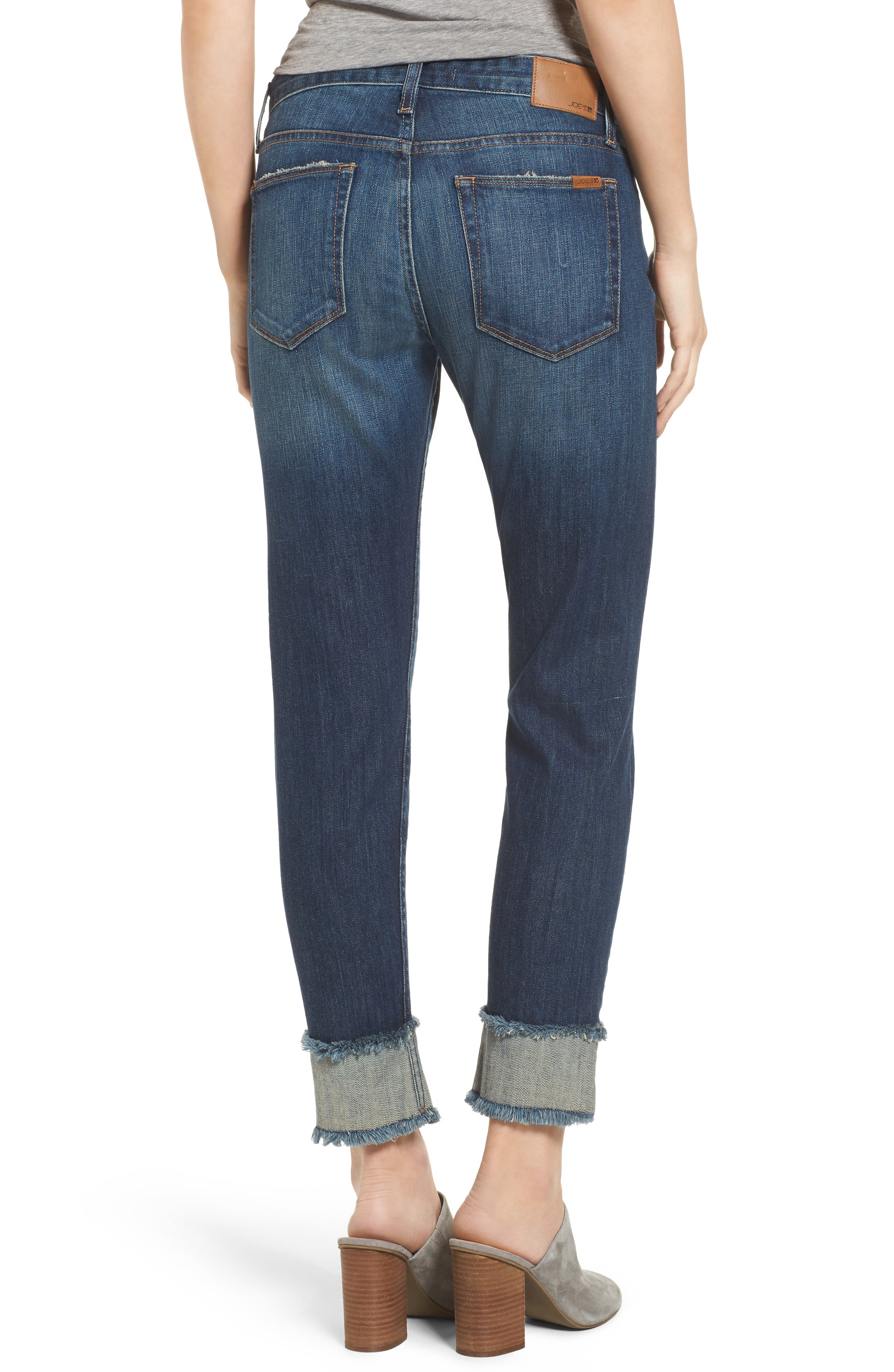 Smith Crop Boyfriend Jeans,                             Alternate thumbnail 2, color,