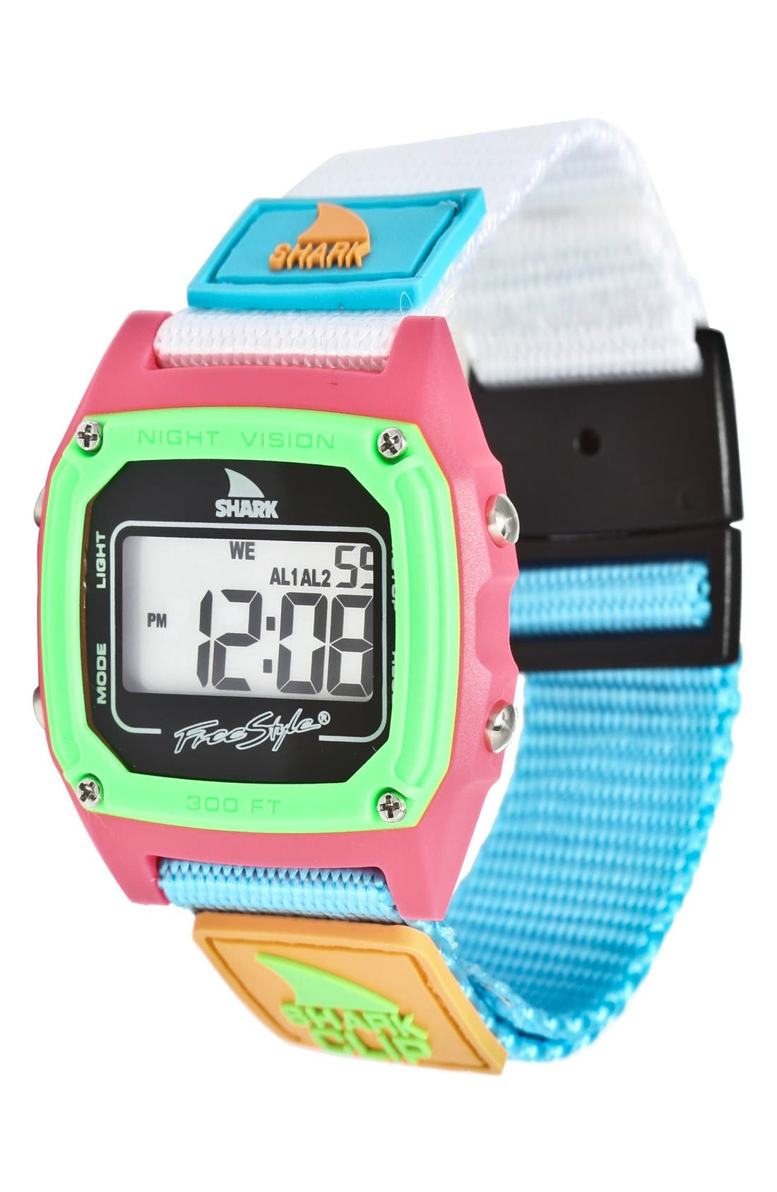 'Shark Clip' Digital Watch, 38mm, Main, color, 300