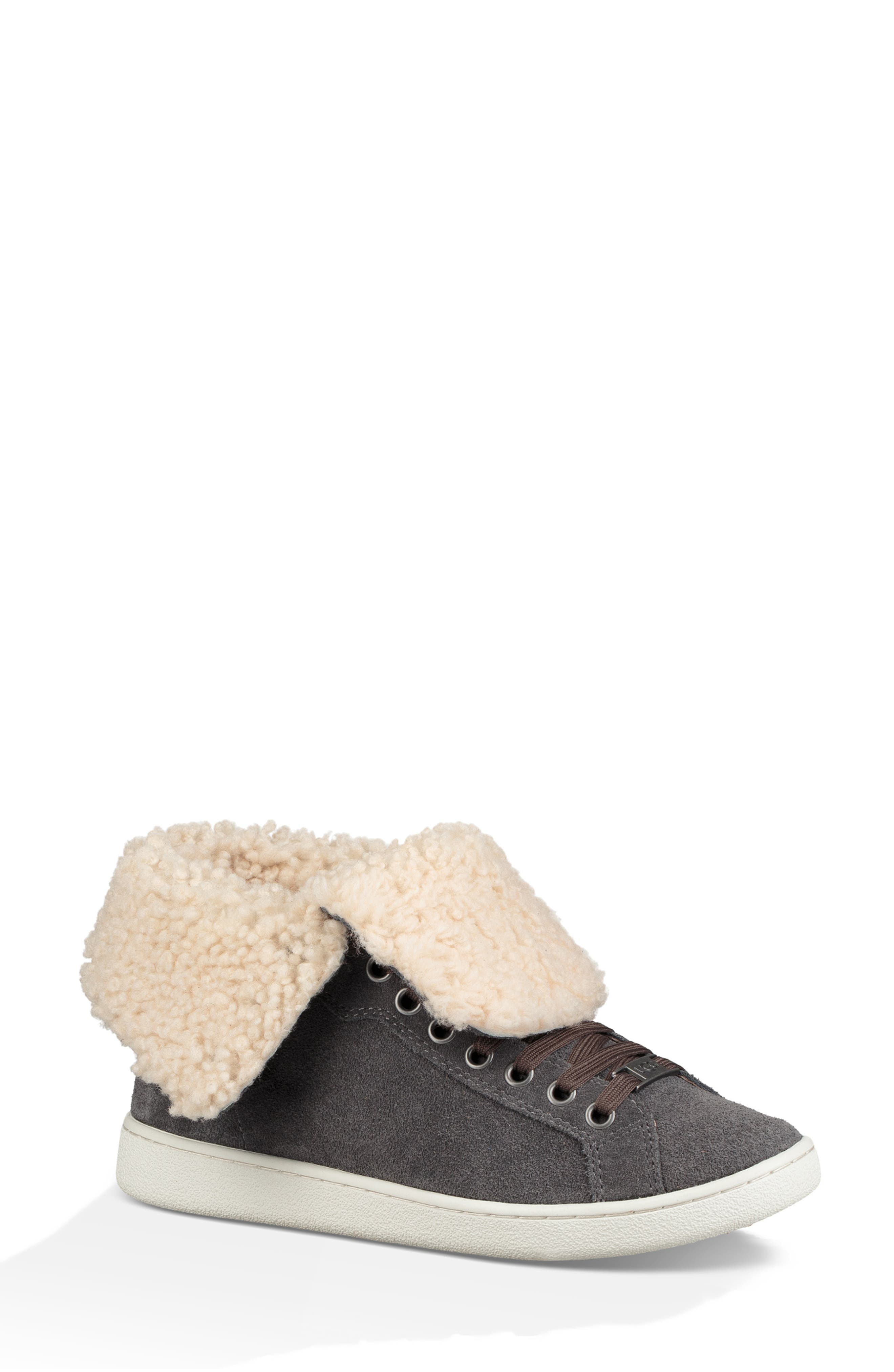 Starlyn Genuine Shearling Lined Boot,                             Alternate thumbnail 9, color,                             CHARCOAL