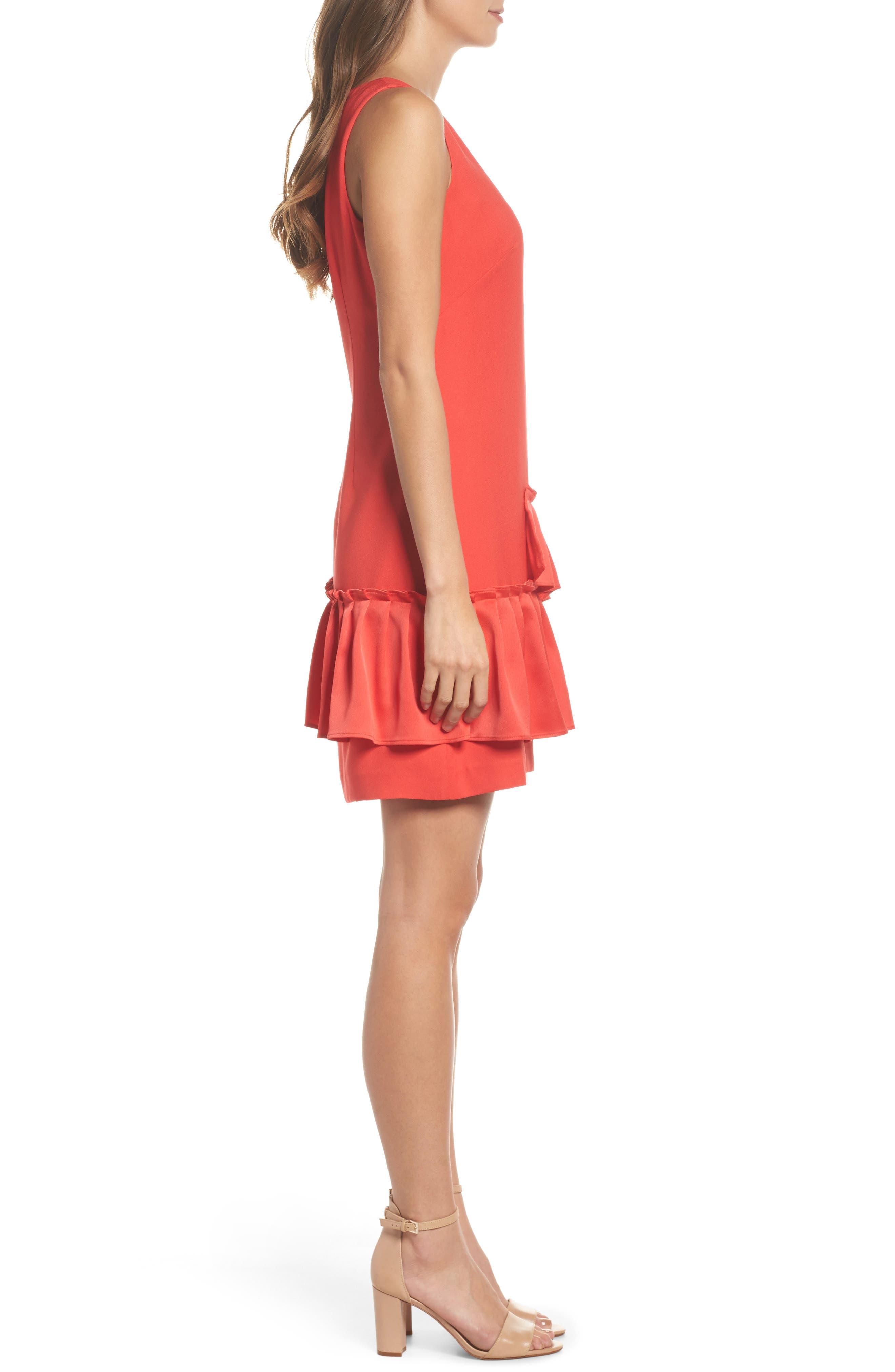 Ruffle Hem Sheath Dress,                             Alternate thumbnail 3, color,                             950