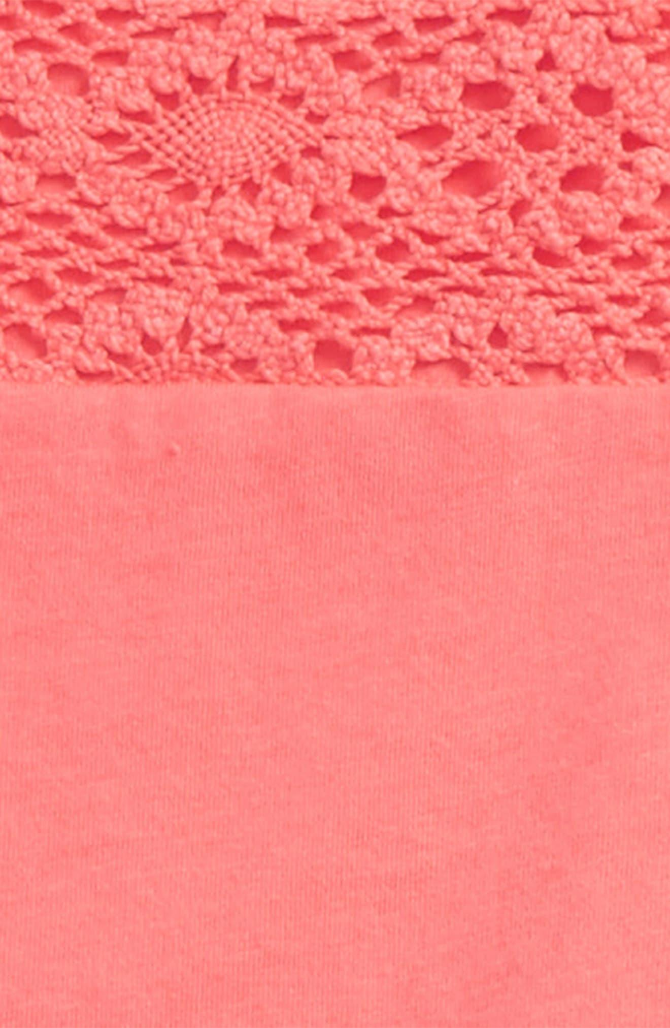Burt's Bees Kids Crochet Yoke Organic Cotton Tee & Flower Print Leggings Set,                             Alternate thumbnail 2, color,                             957