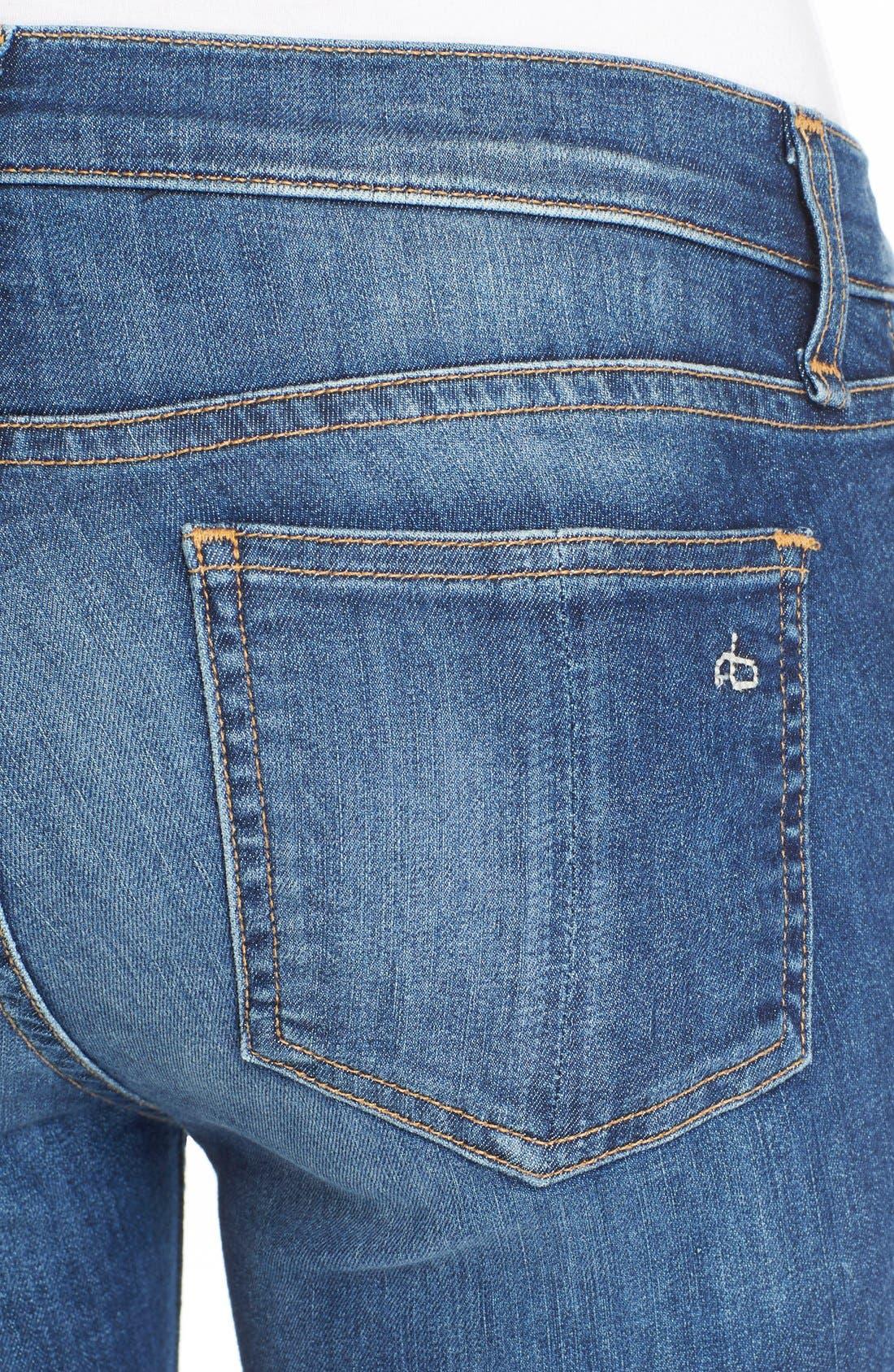Capri Crop Skinny Jeans,                             Alternate thumbnail 6, color,                             RAE