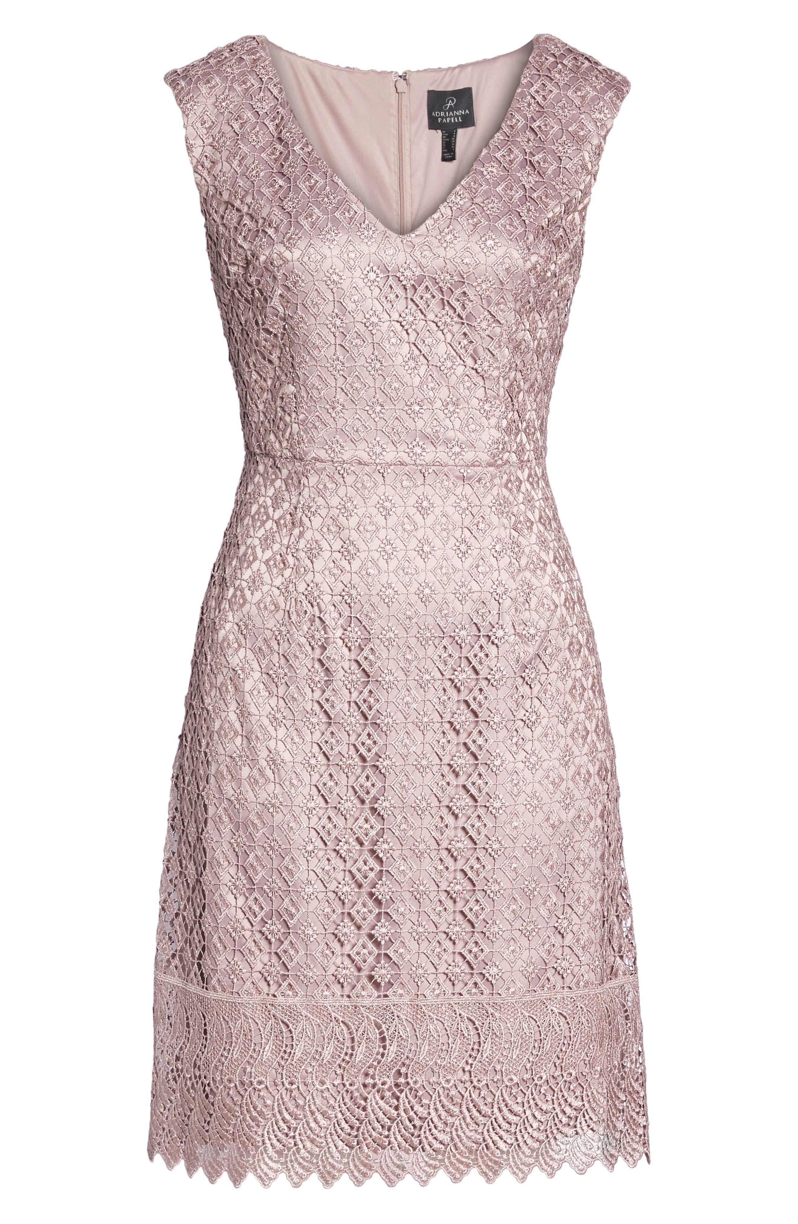 Guipure Lace Dress,                             Alternate thumbnail 7, color,                             680