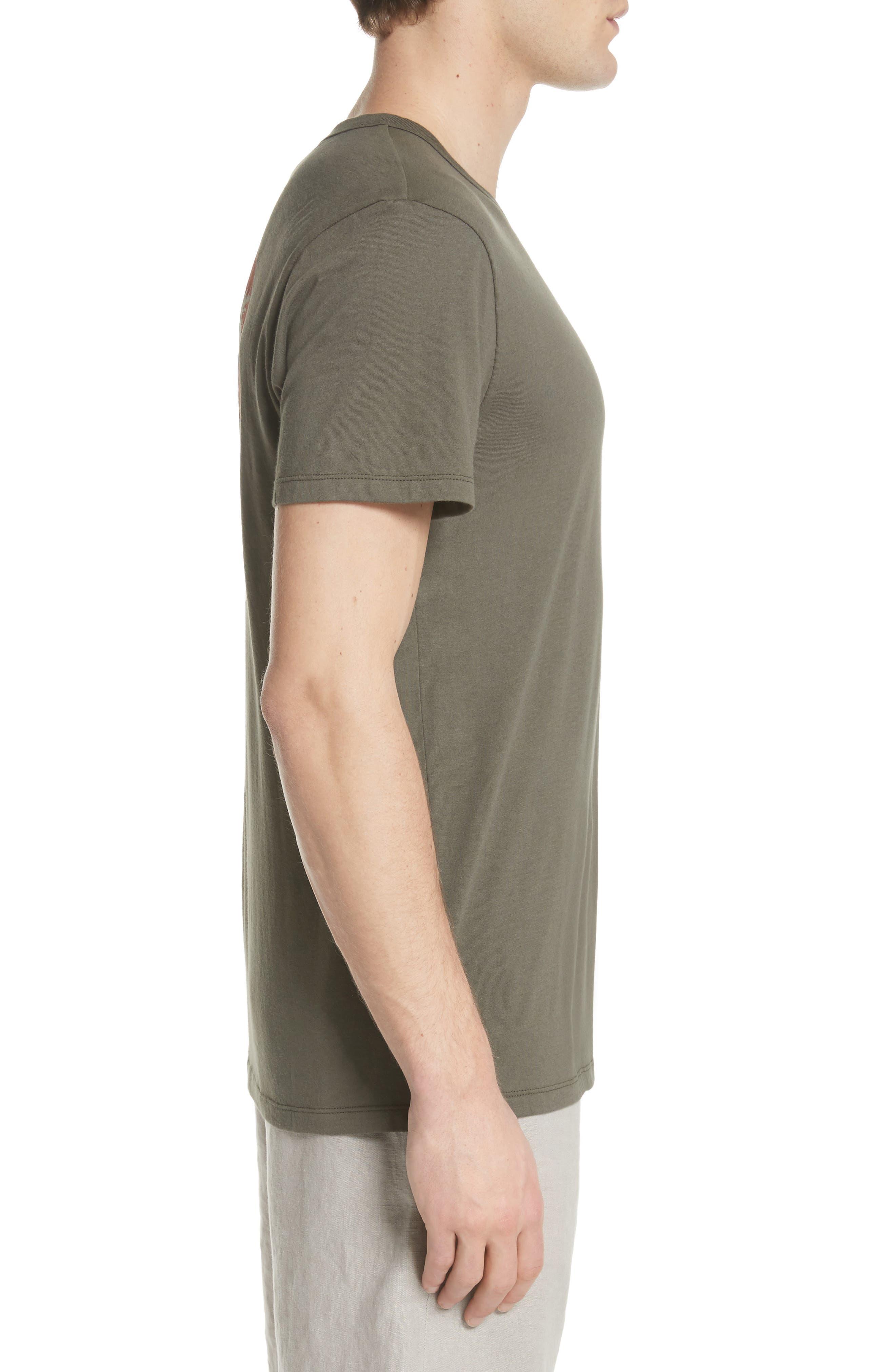 Johnny Sun Palm Graphic T-Shirt,                             Alternate thumbnail 3, color,                             DEEP SAGE