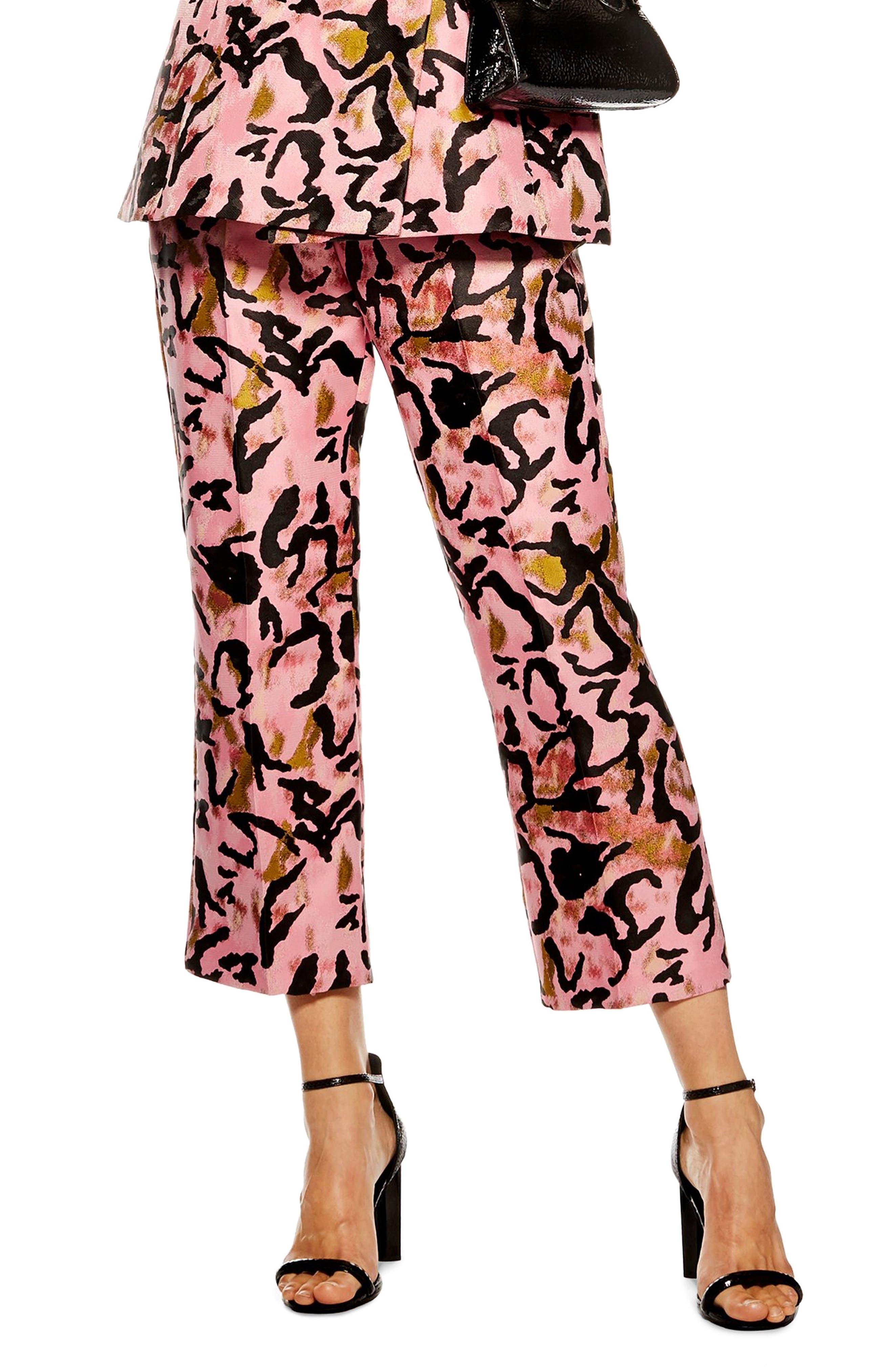 Animal Jacquard Trousers, Main, color, 650