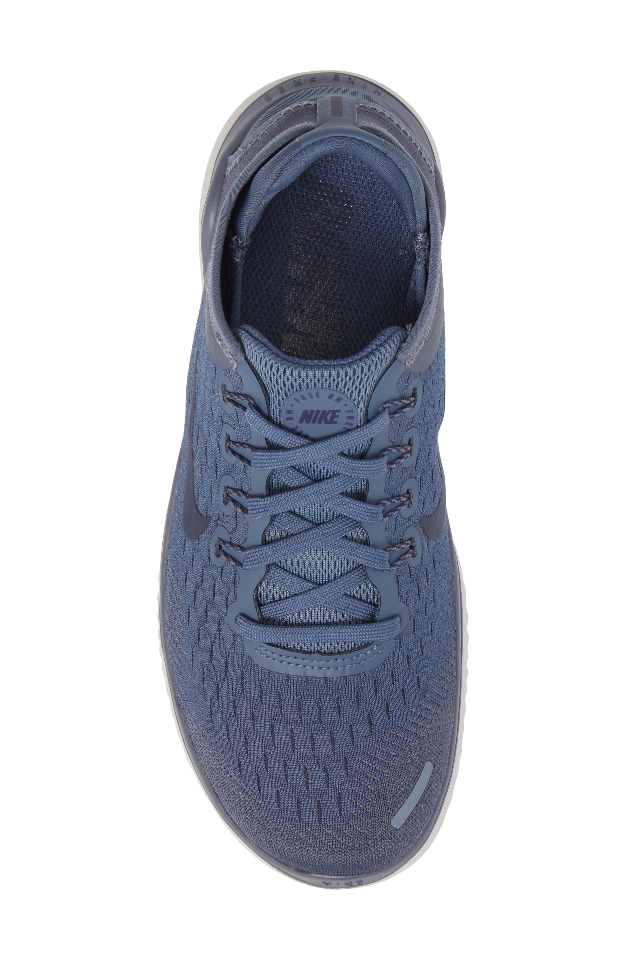 Free RN 2018 Running Shoe,                             Alternate thumbnail 5, color,                             DIFFUSED BLUE/ NEUTRAL INDIGO
