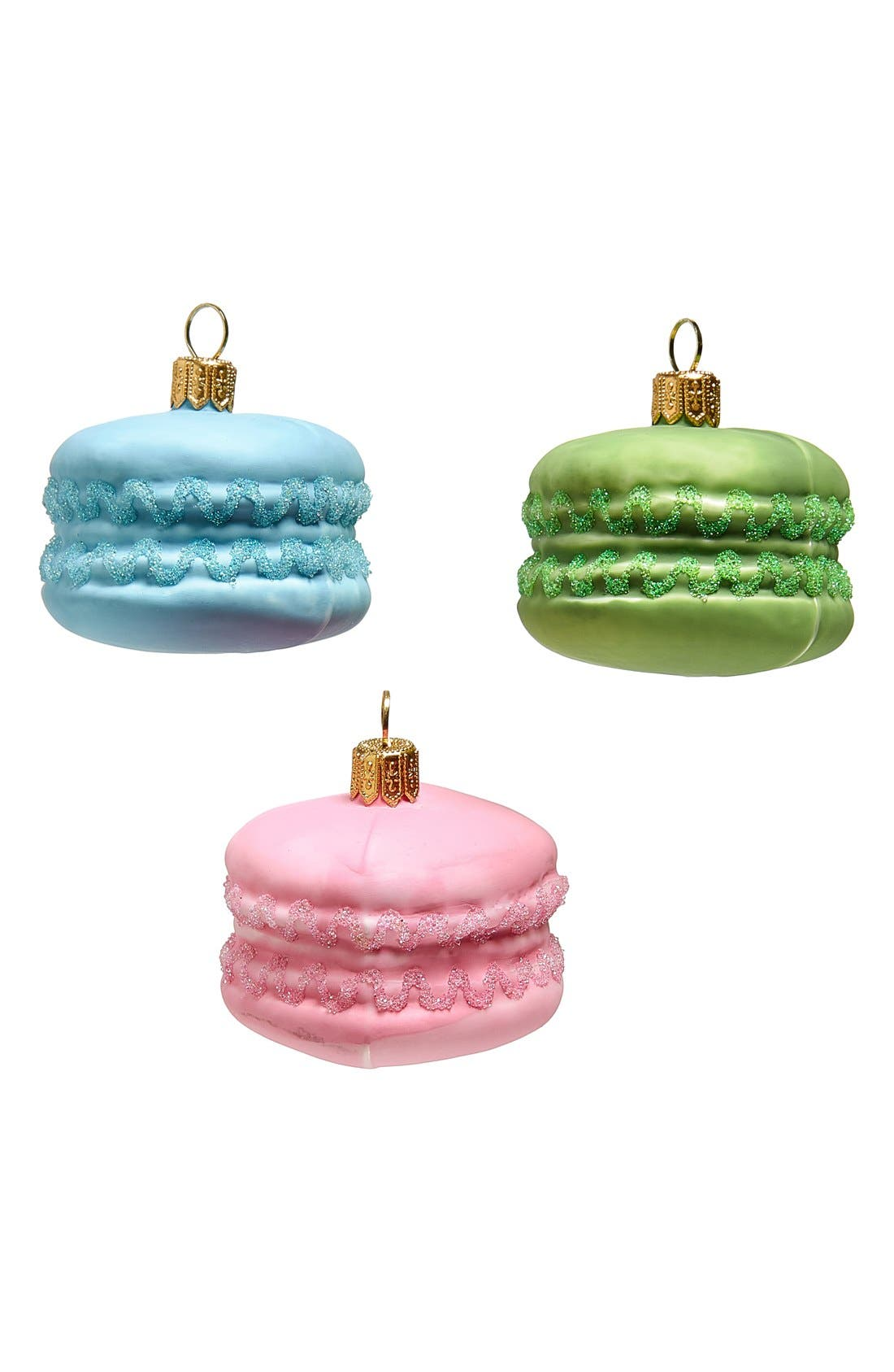 Macaroons Glass Ornaments, Main, color, 650