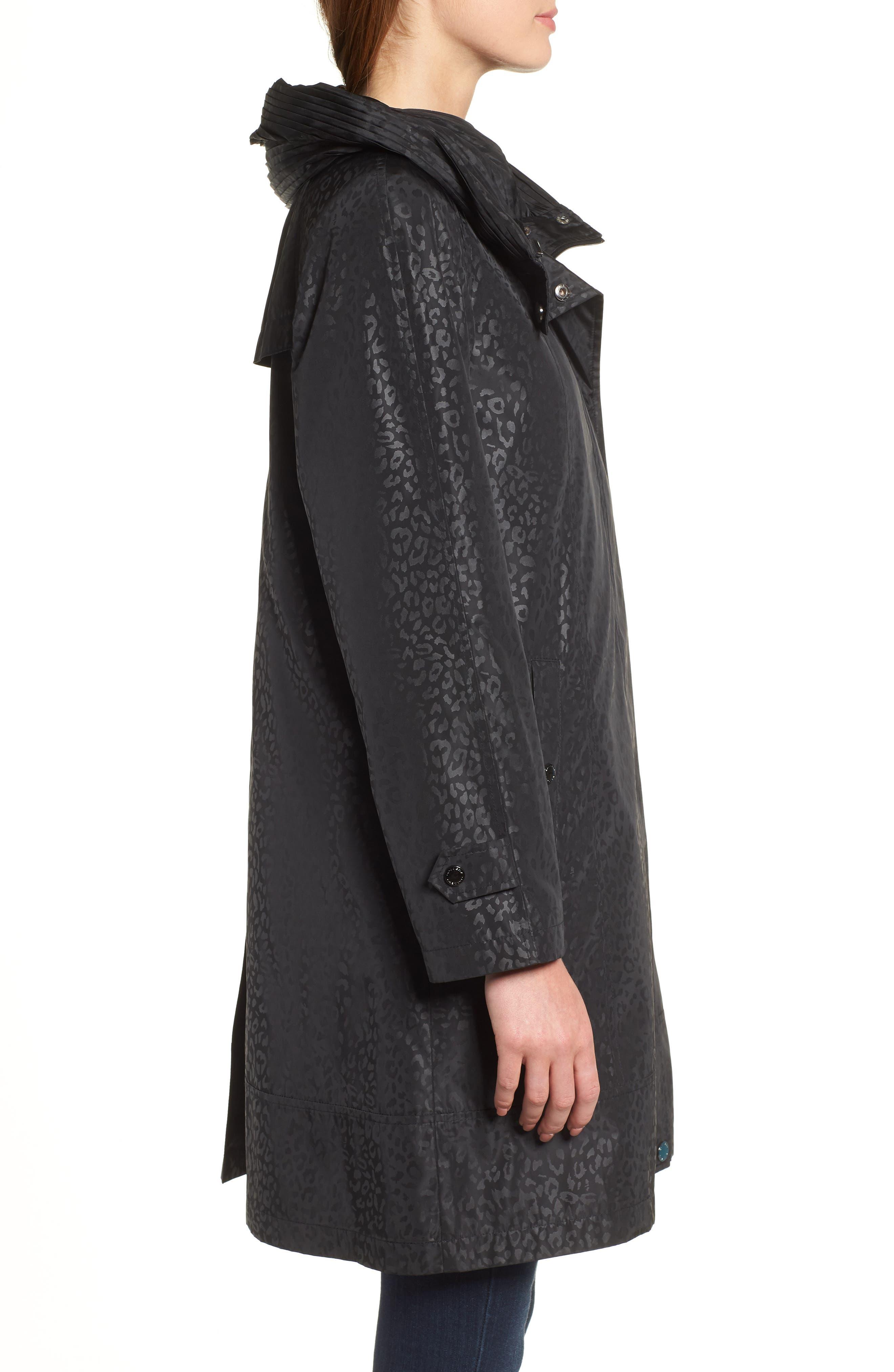 GALLERY,                             Pleated Collar Raincoat,                             Alternate thumbnail 4, color,                             200