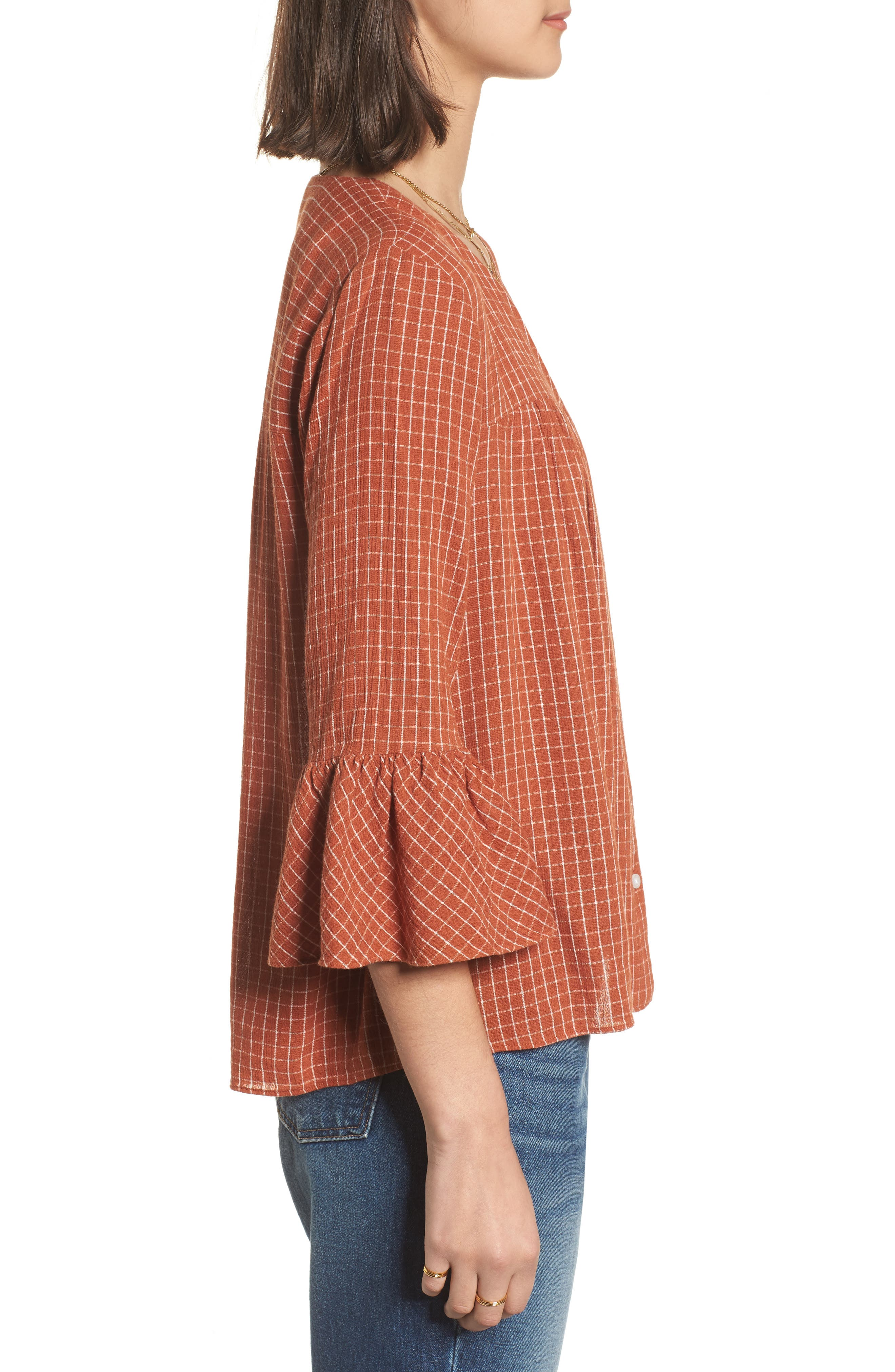Veranda Bell Sleeve Shirt,                             Alternate thumbnail 3, color,                             800