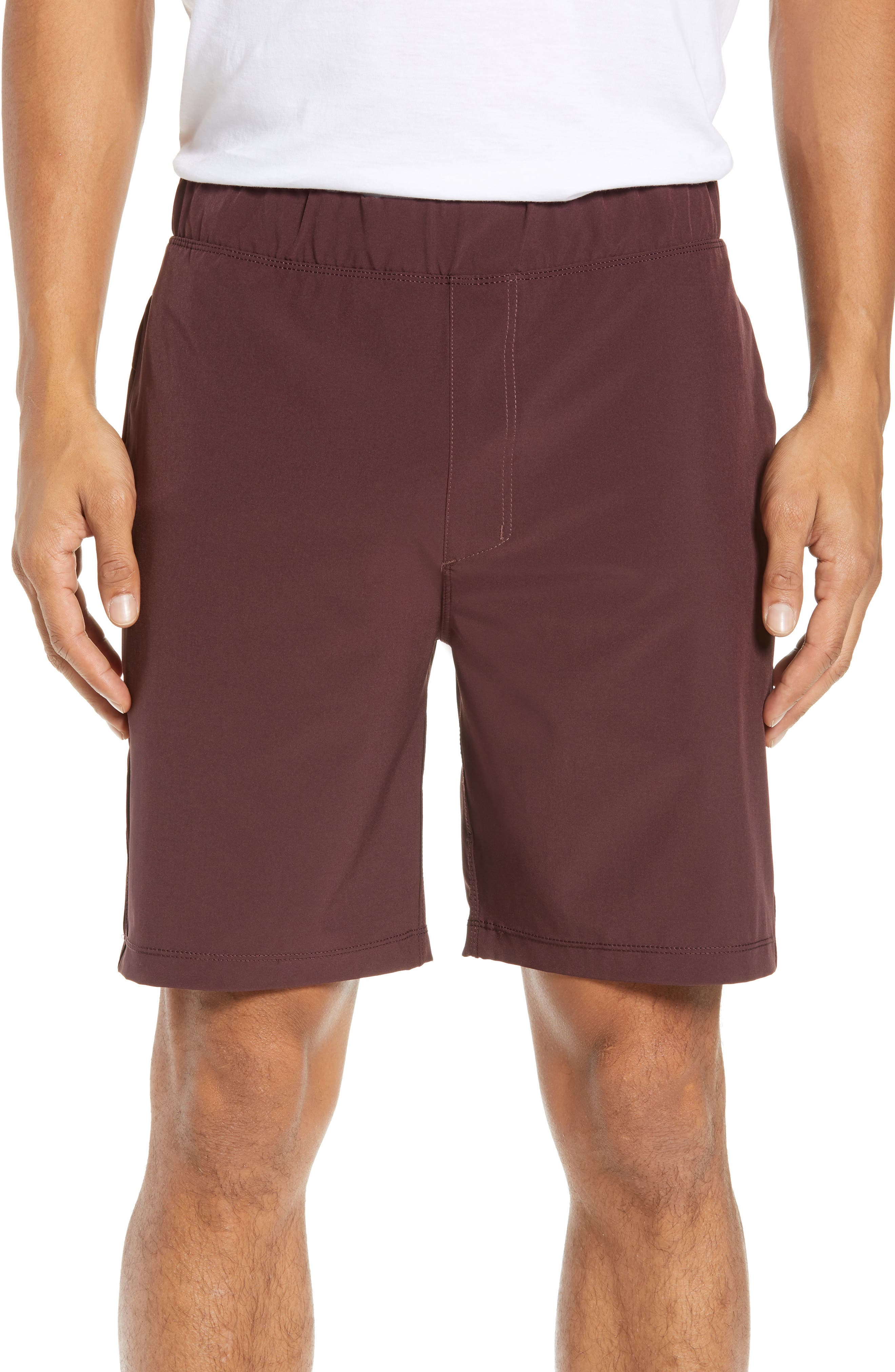 Hurley Alpha Trainer 2.0 Recycled Polyester Shorts, Burgundy