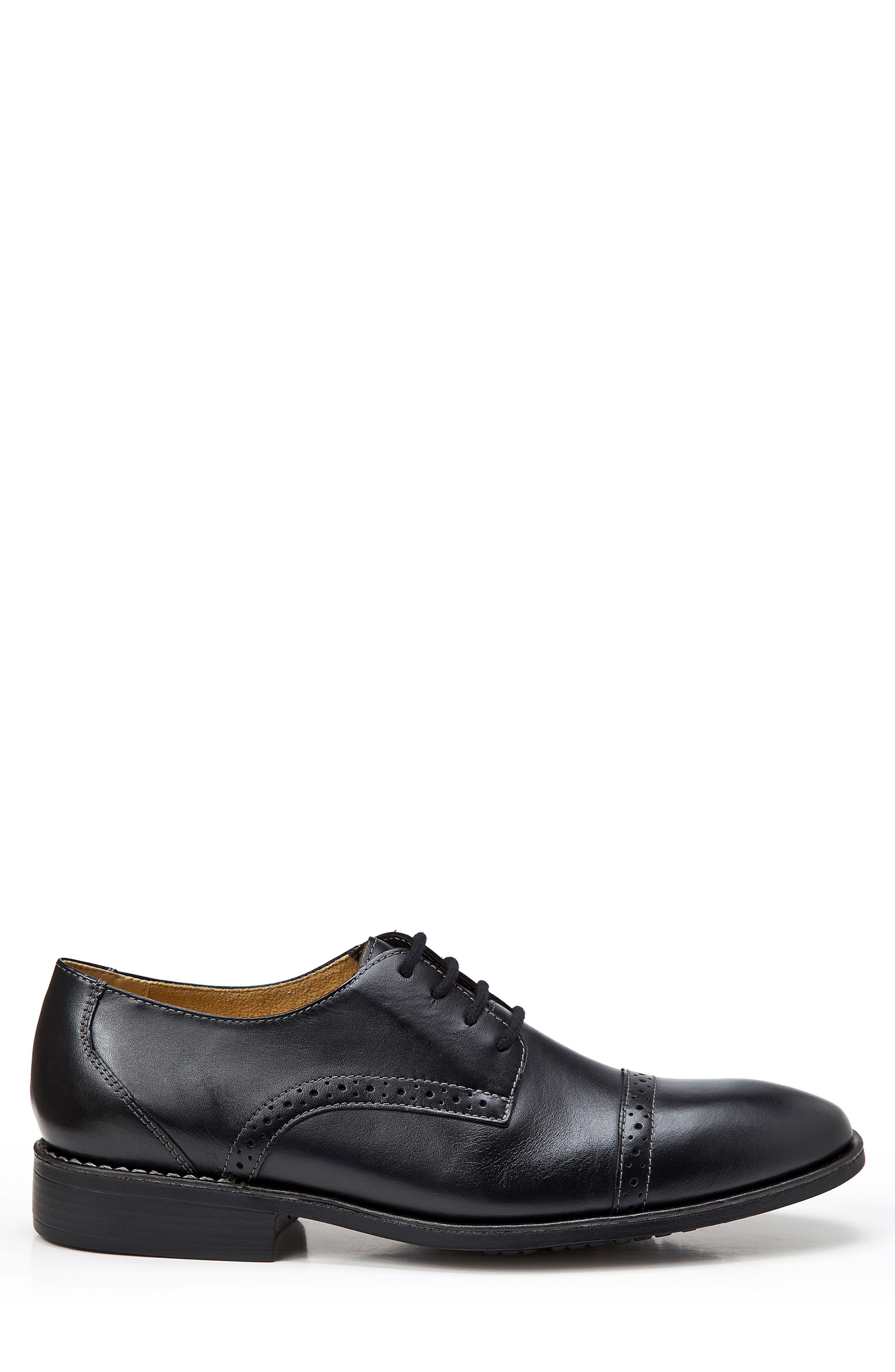 Elbert Cap Toe Derby,                             Alternate thumbnail 3, color,                             BLACK