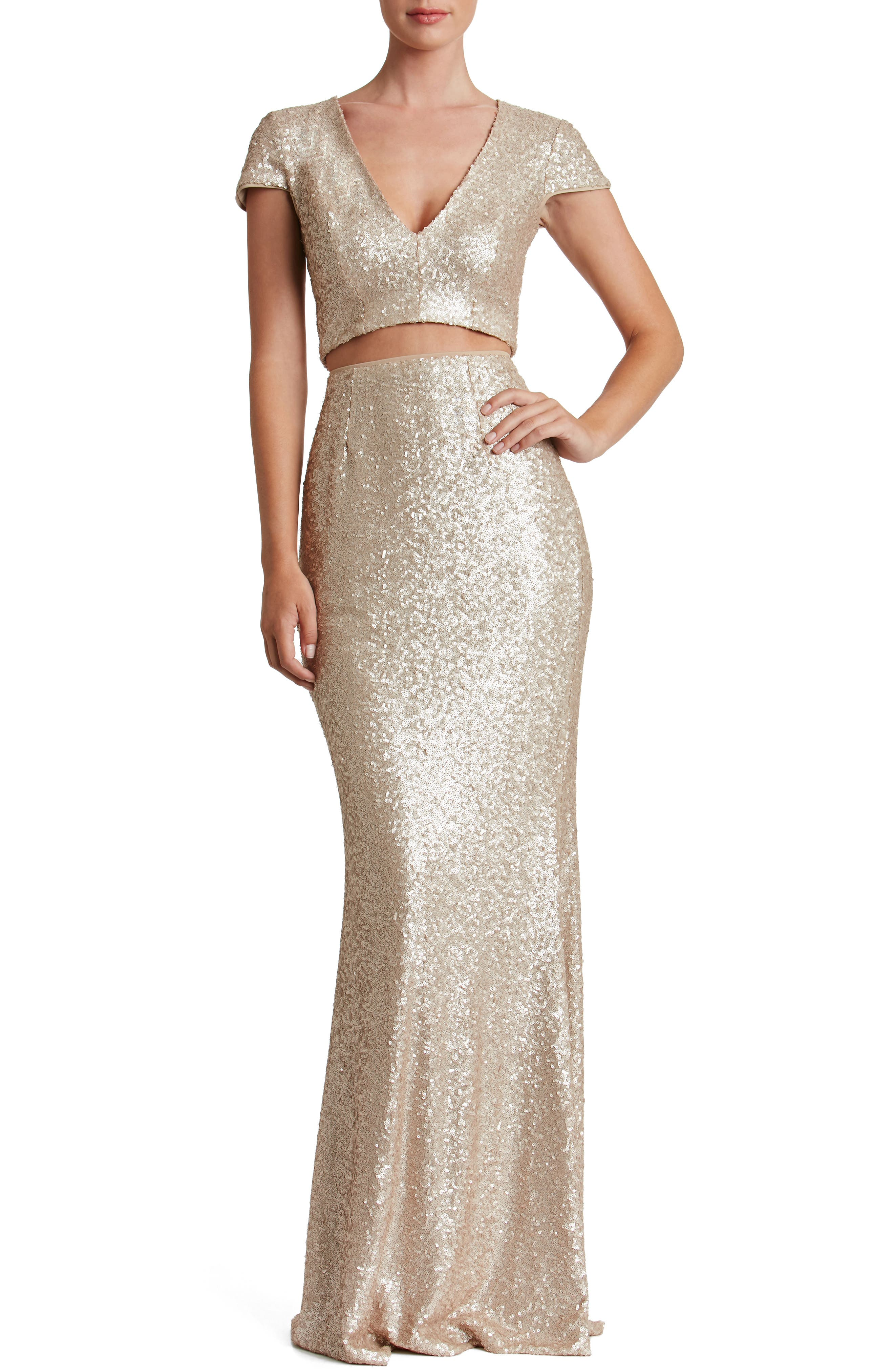Cara Two-Piece Gown,                             Alternate thumbnail 6, color,
